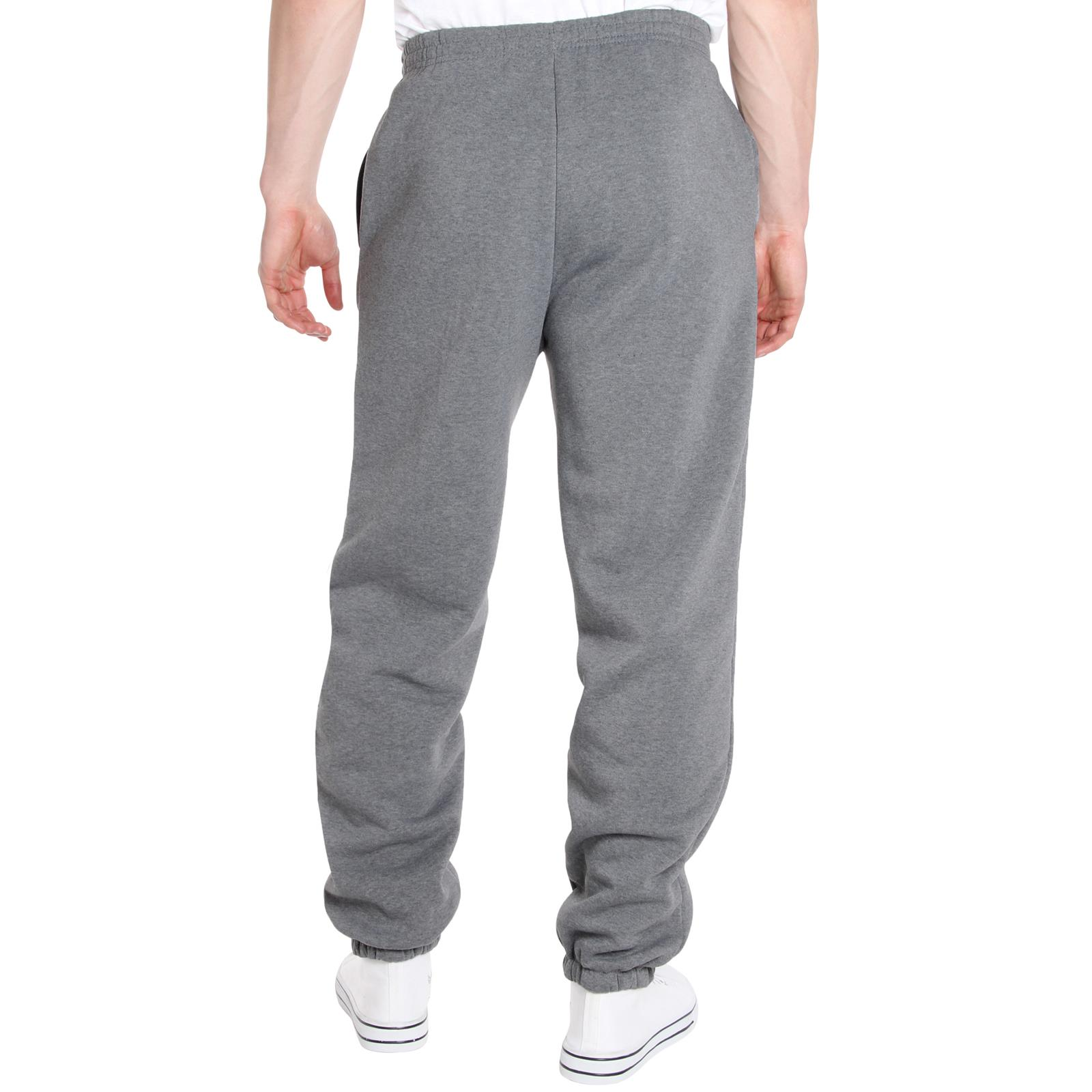 Mens-Tracksuit-Bottoms-Striped-Joggers-Jogging-Trousers-Fleece-Pants-Casual-Work thumbnail 29