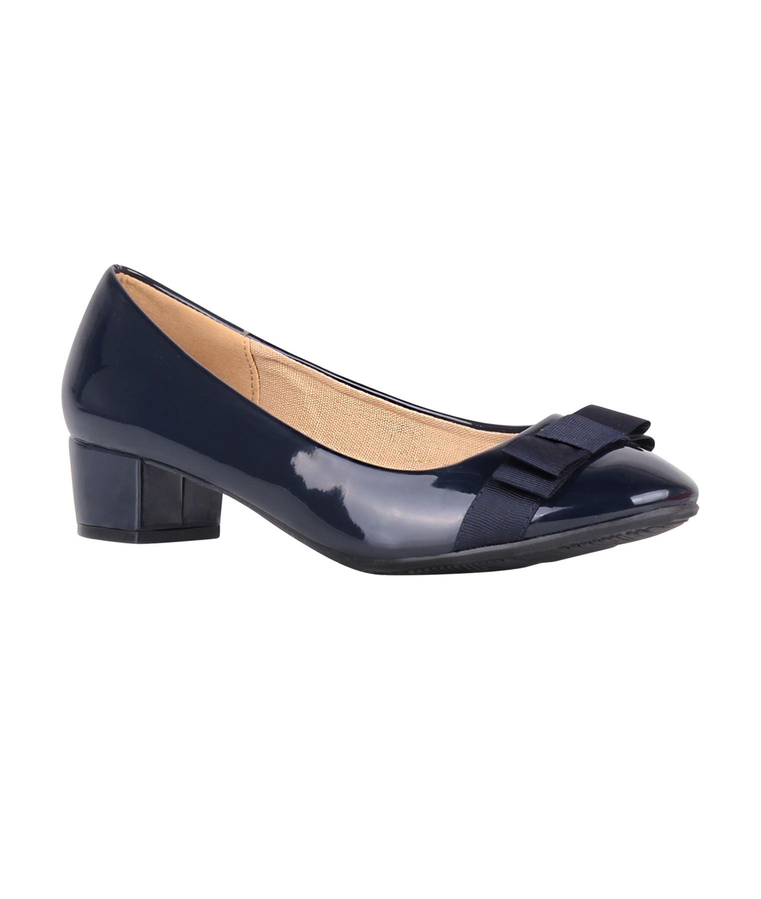 Damen-Elegante-Absatzschuhe-Hochlganz-Pumps-Blockabsatz-Ballerina-Schuhe-Chic Indexbild 18