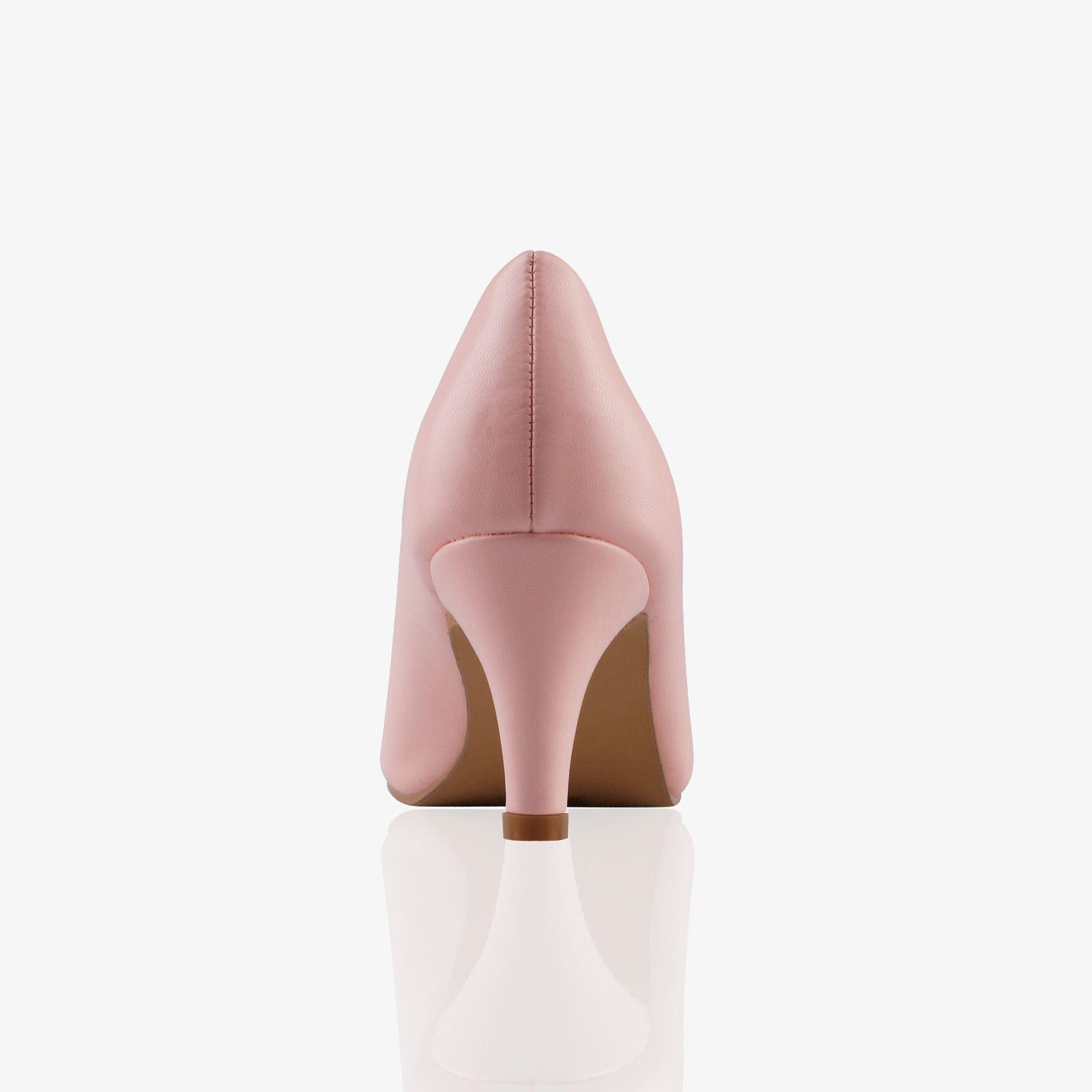 Womens-Ladies-Mid-Heel-Court-Shoes-Slip-On-Low-Kitten-Heels-Pumps-Matte-Size-3-8 thumbnail 21