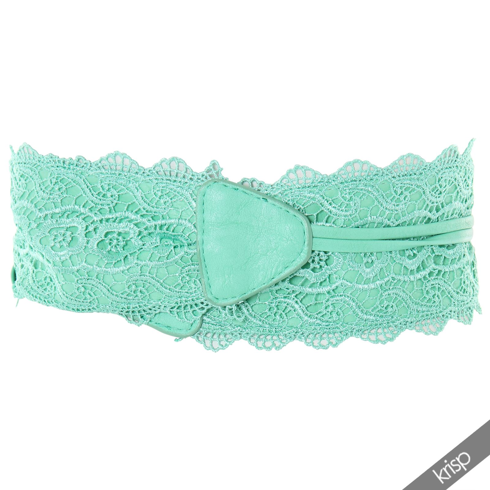 thumbnail 29 - Womens-Ladies-Wide-Waist-Belt-Floral-Waistband-Pattern-Band-Crochet-Lace-Corset