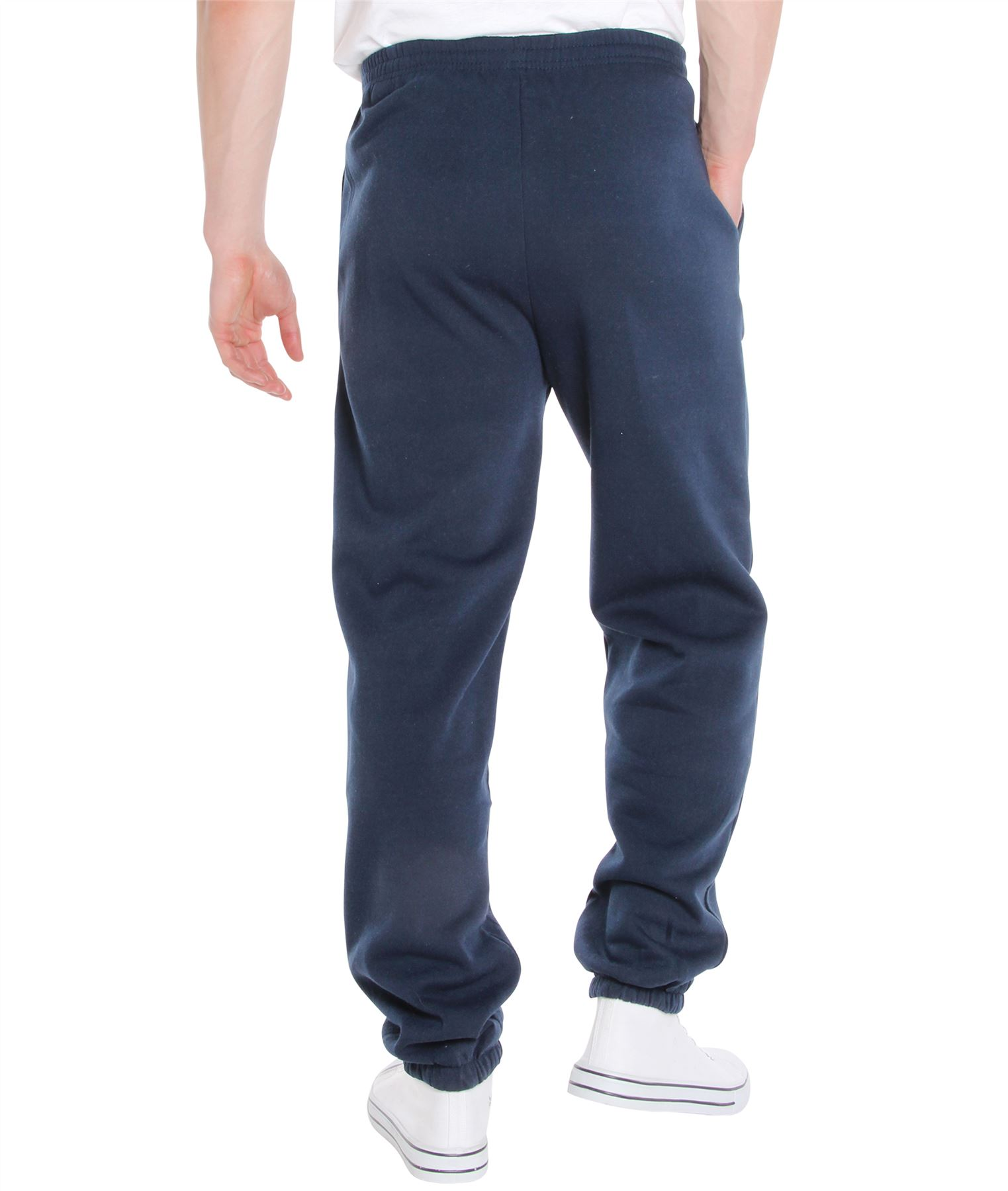 Mens-Tracksuit-Bottoms-Striped-Joggers-Jogging-Trousers-Fleece-Pants-Casual-Work thumbnail 31