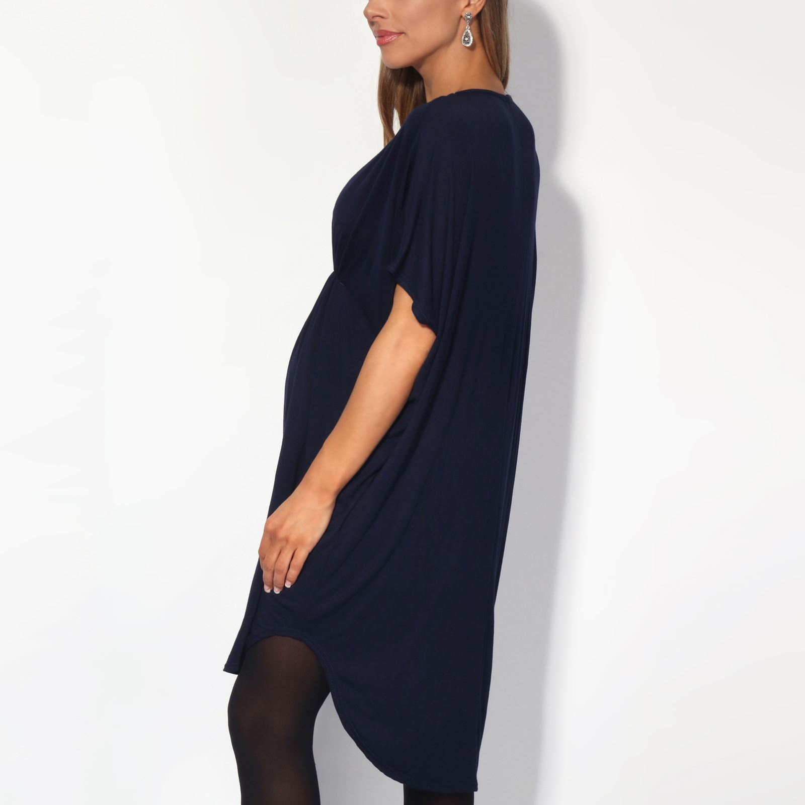 Maternity-Dress-Empire-Line-Top-Long-Loose-T-Shirt-Batwing-Tunic-Pregnancy-Plus thumbnail 13