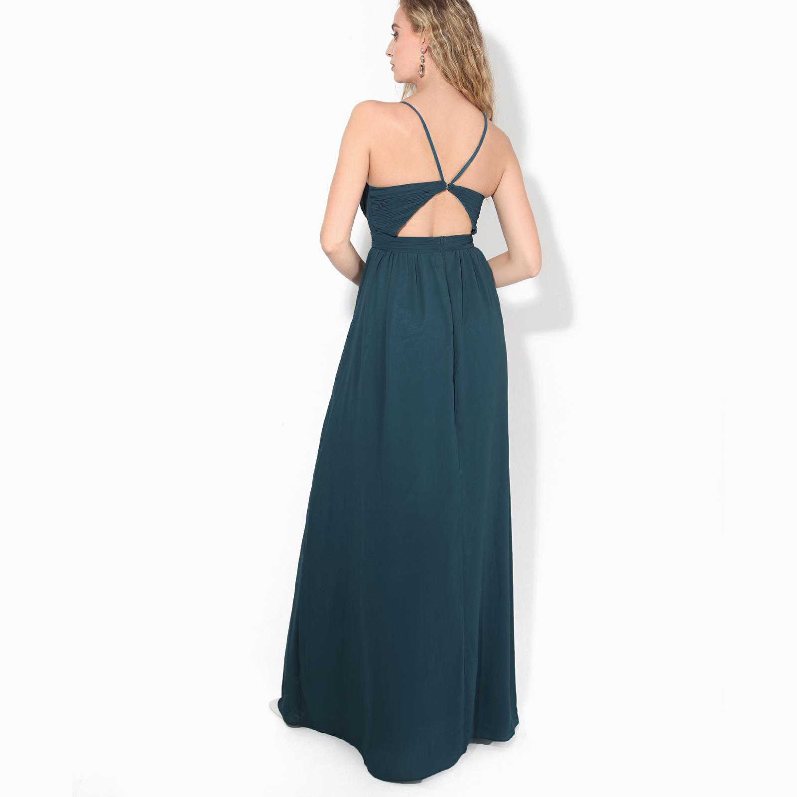 Womens-Ladies-Strappy-Maxi-Dress-Formal-Wedding-Evening-Party-Ball-Gown-Cocktail thumbnail 13