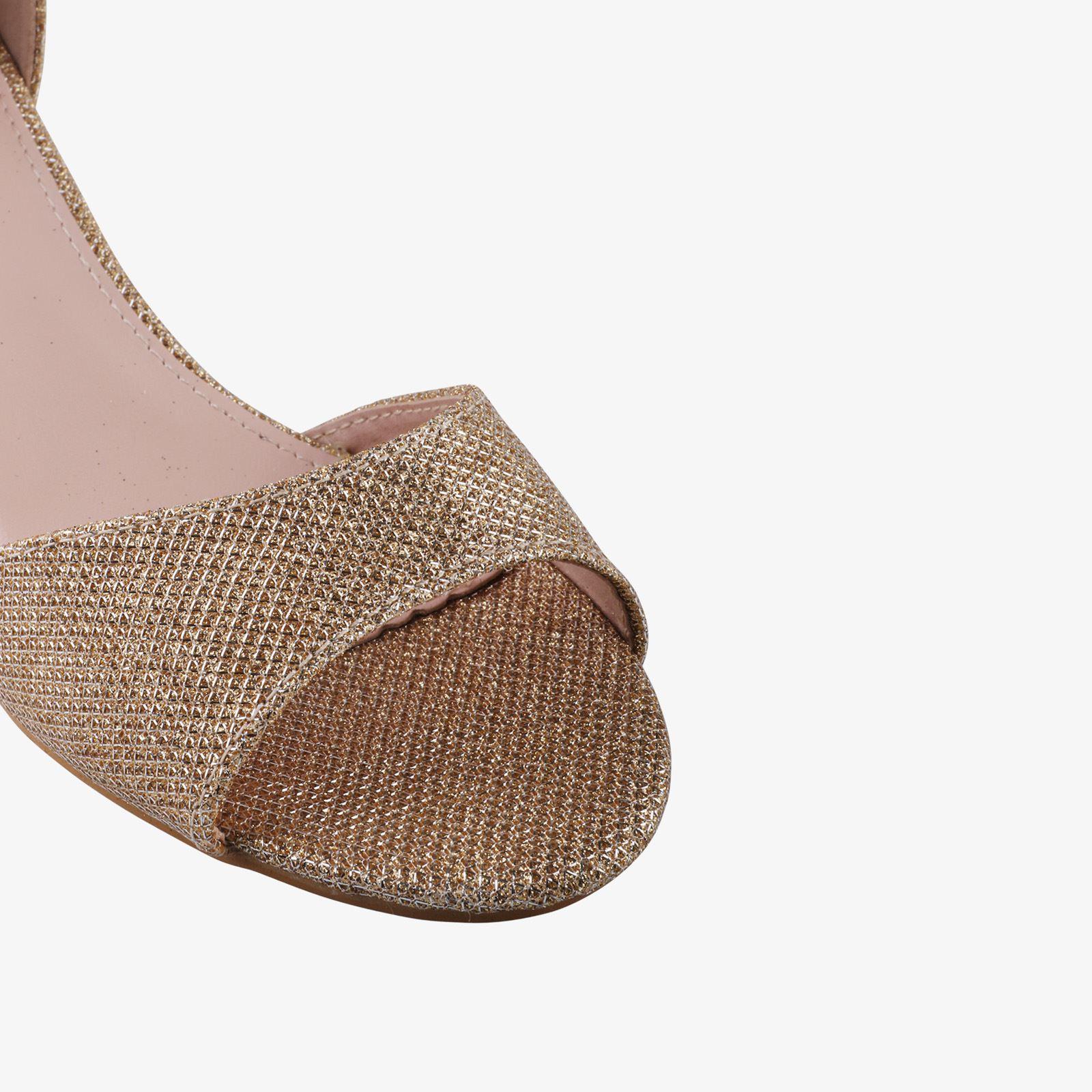 Women-Ladies-Low-Kitten-Heel-Court-Shoes-Open-Toe-Glitter-Sandals-Party-Bridal thumbnail 9