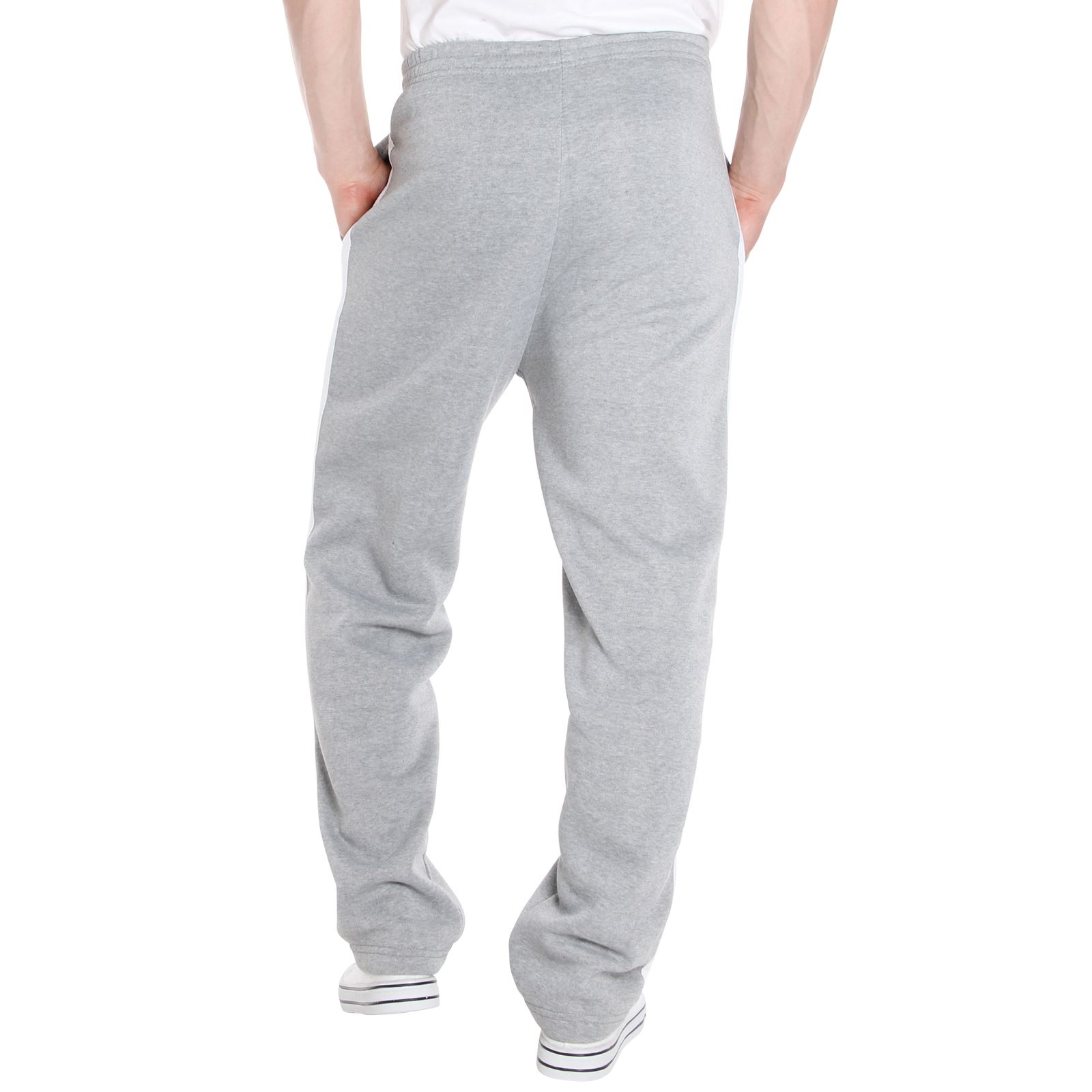 Mens-Tracksuit-Bottoms-Striped-Joggers-Jogging-Trousers-Fleece-Pants-Casual-Work thumbnail 27