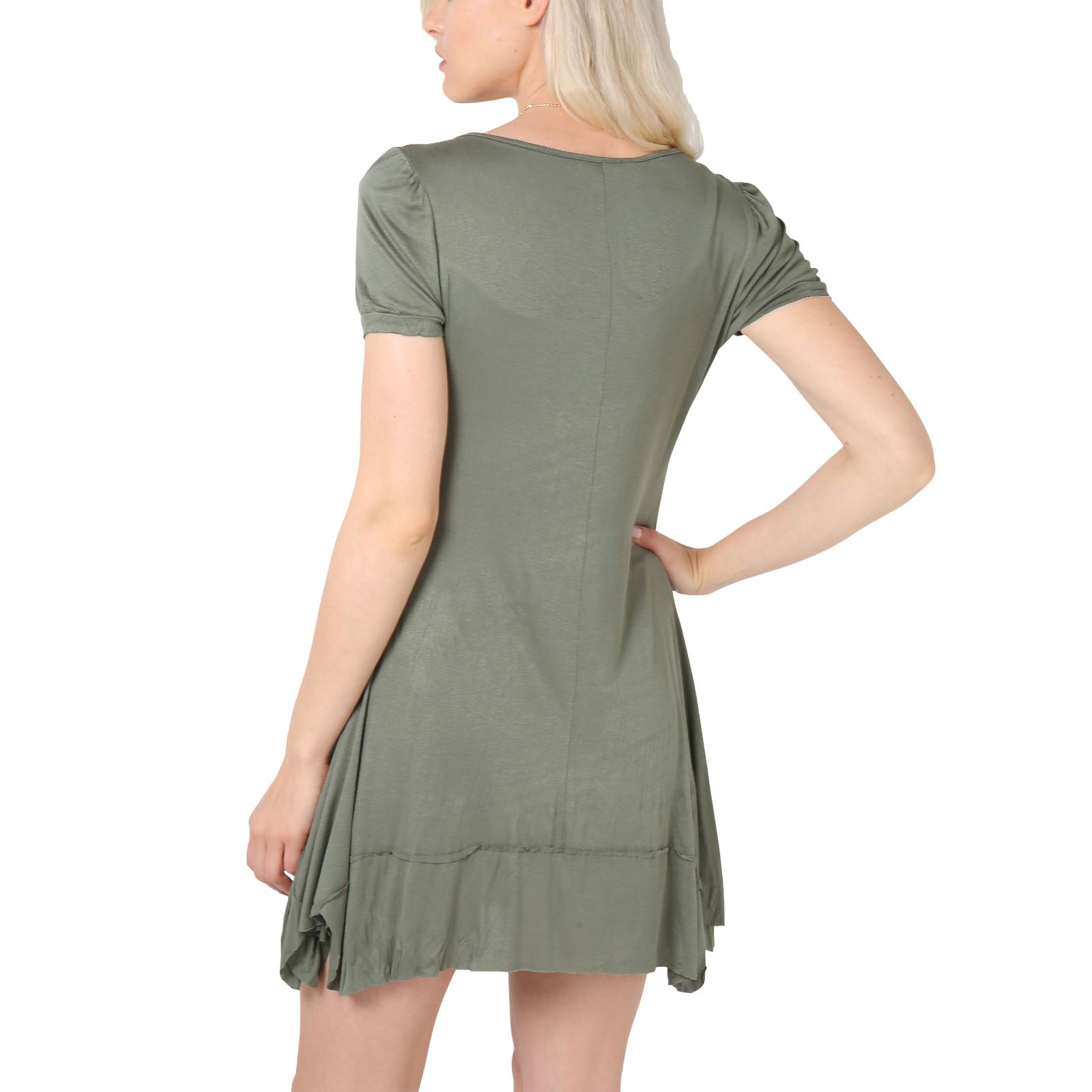 KRISP-Women-2-in-1-Boho-Gypsy-Tunic-Dress-Top-Tee-Jersey-Pleated-A-Line-Necklace thumbnail 13