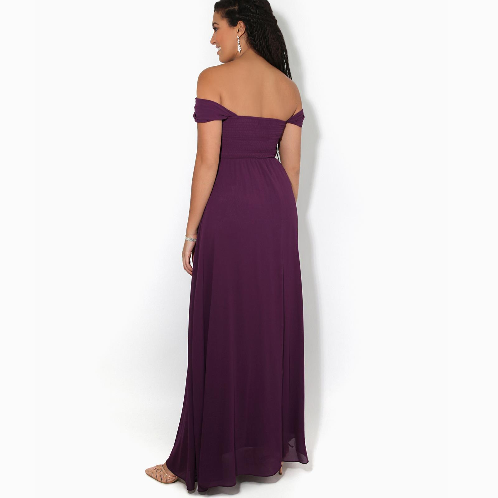 Womens-Formal-Evening-Wedding-Maxi-Prom-Dress-Long-On-Off-Shoulder-Ball-Gown thumbnail 9