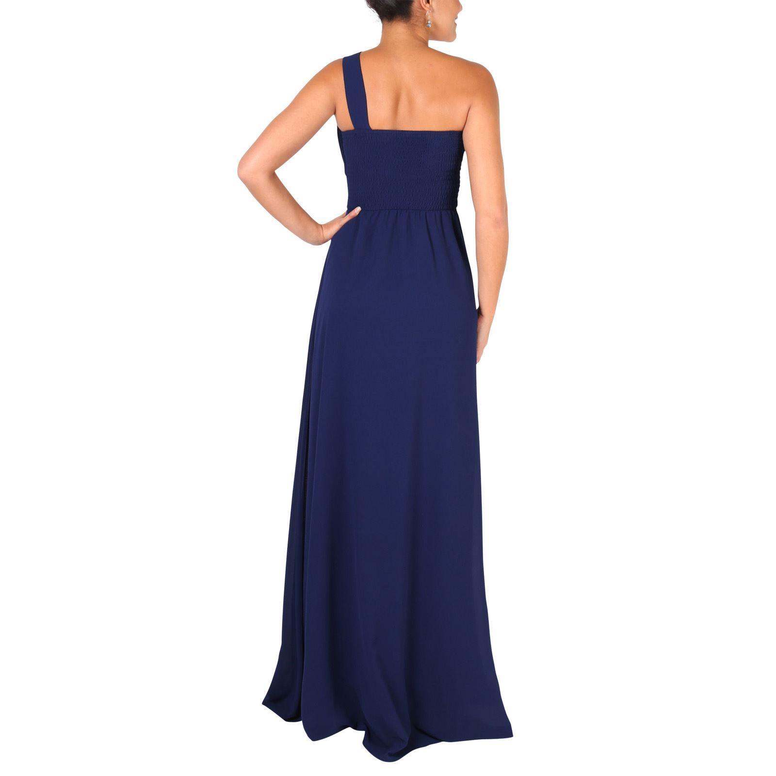 Womens-Wedding-Bridesmaid-Prom-Dress-Formal-One-Off-Shoulder-Long-Evening-8-18 thumbnail 47