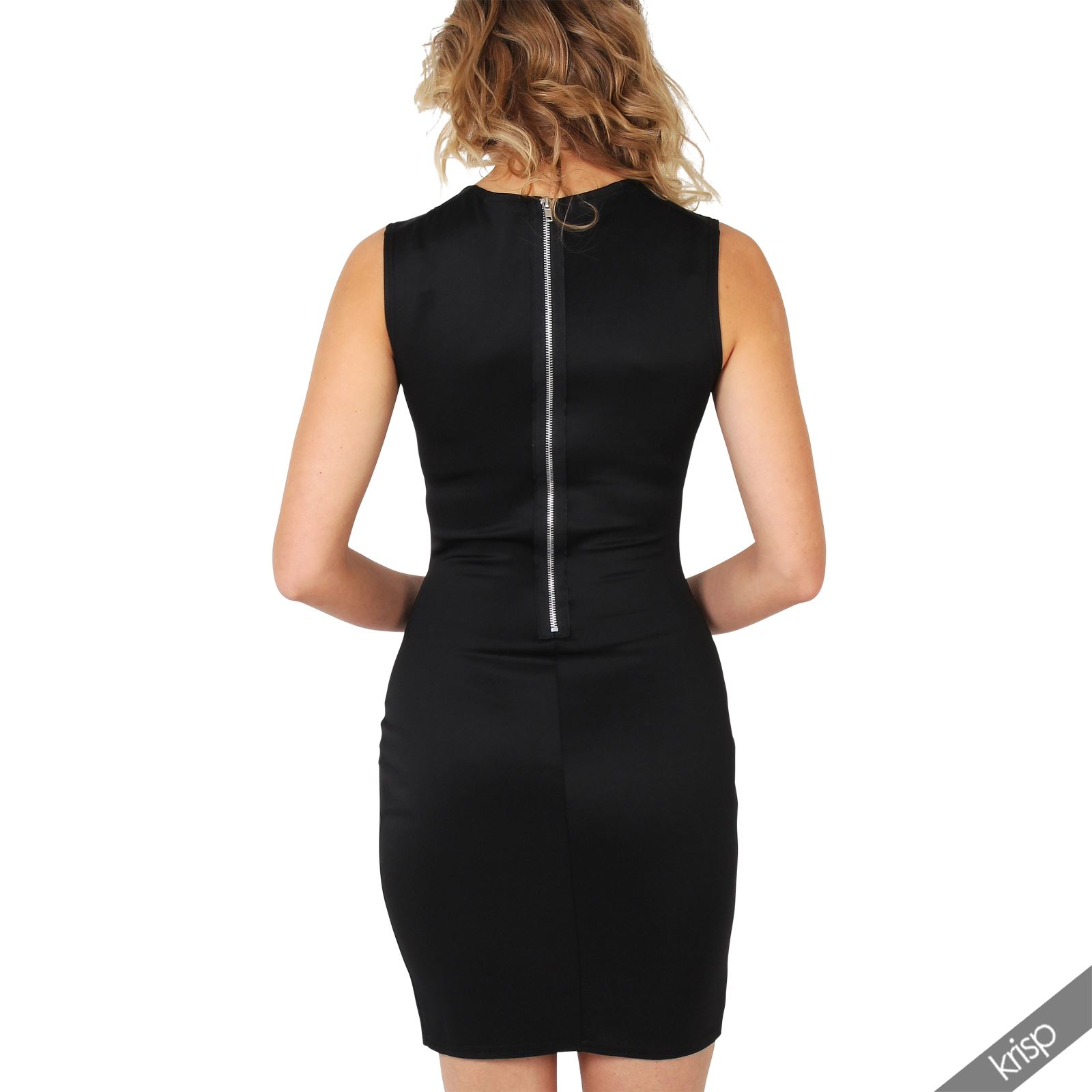 Ladies-Fashion-Bodycon-Dress-Sleeveless-Backless-Party-Fitted-Cocktail-Pencil thumbnail 4