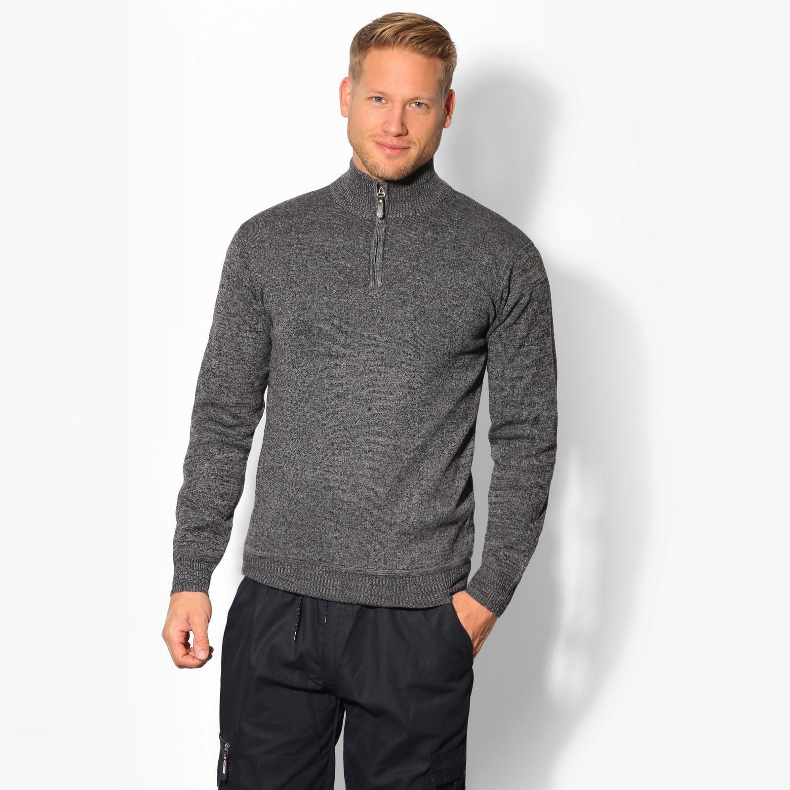 pull homme laine hiver pas cher col haut zipp e grande taille uni mode basique ebay. Black Bedroom Furniture Sets. Home Design Ideas