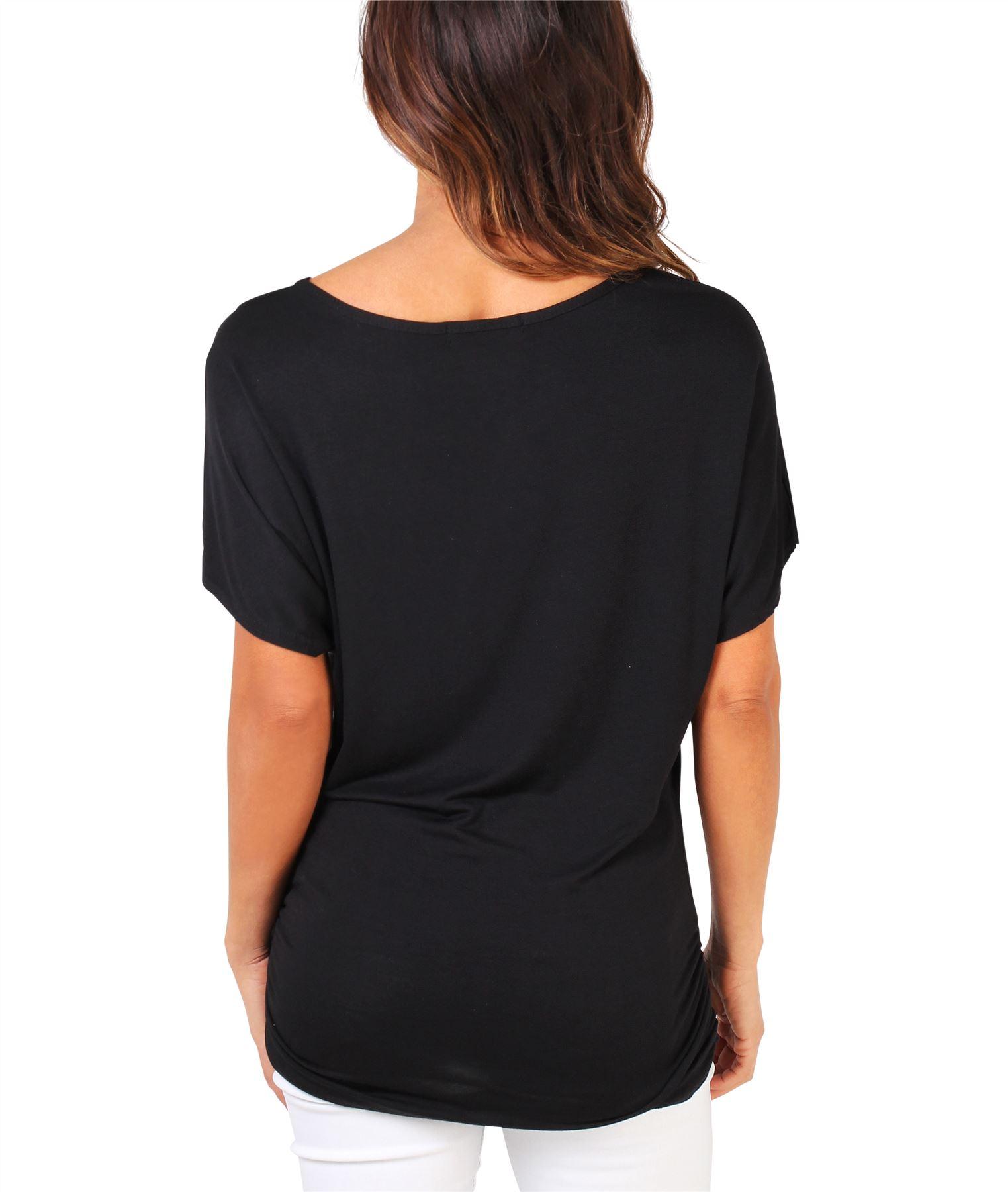 Womens-Oversized-Batwing-T-Shirt-Ladies-Baggy-Animal-Tiger-Blouse-Print-Top thumbnail 3