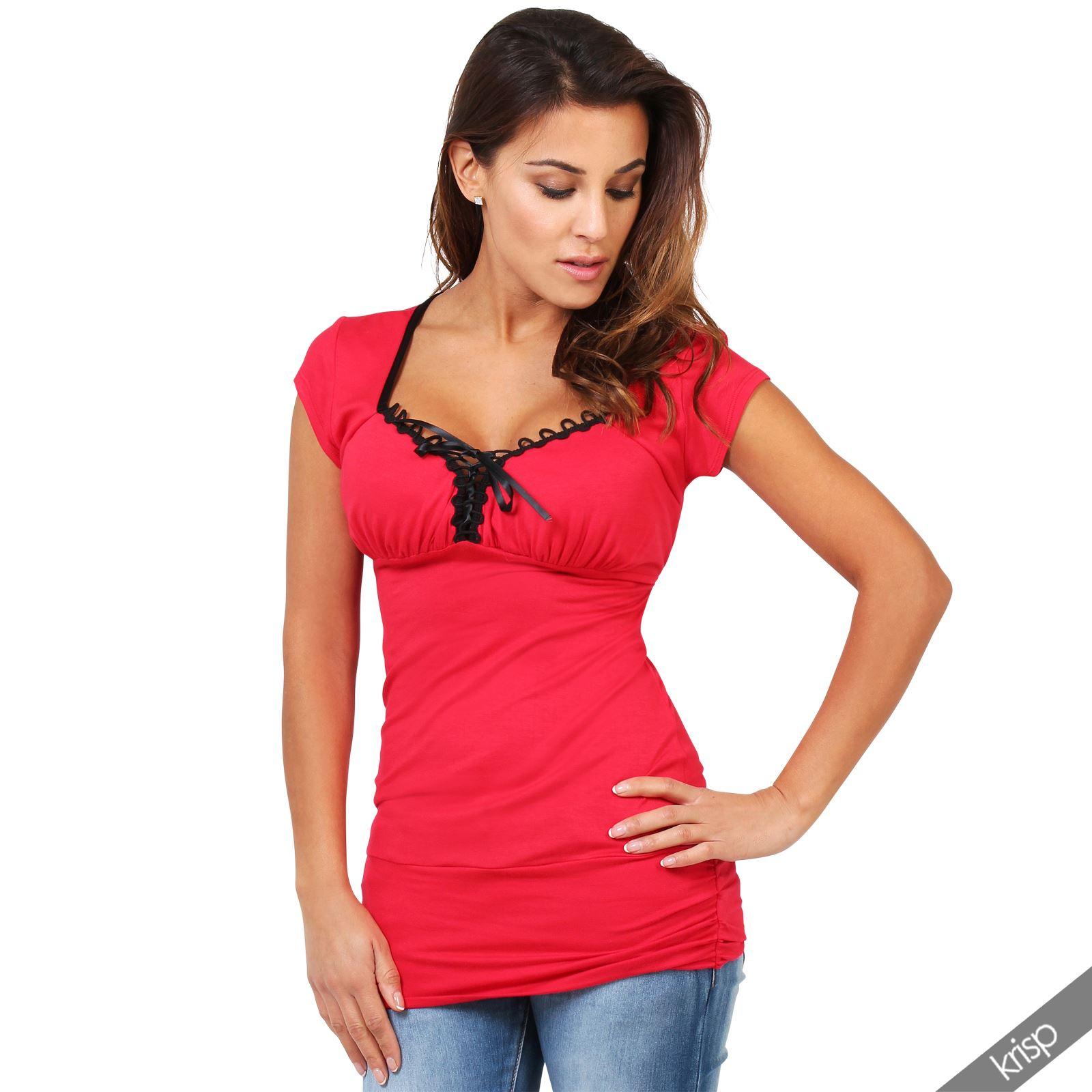 damen s es t shirt corsagen bluse langes shirt stretch. Black Bedroom Furniture Sets. Home Design Ideas