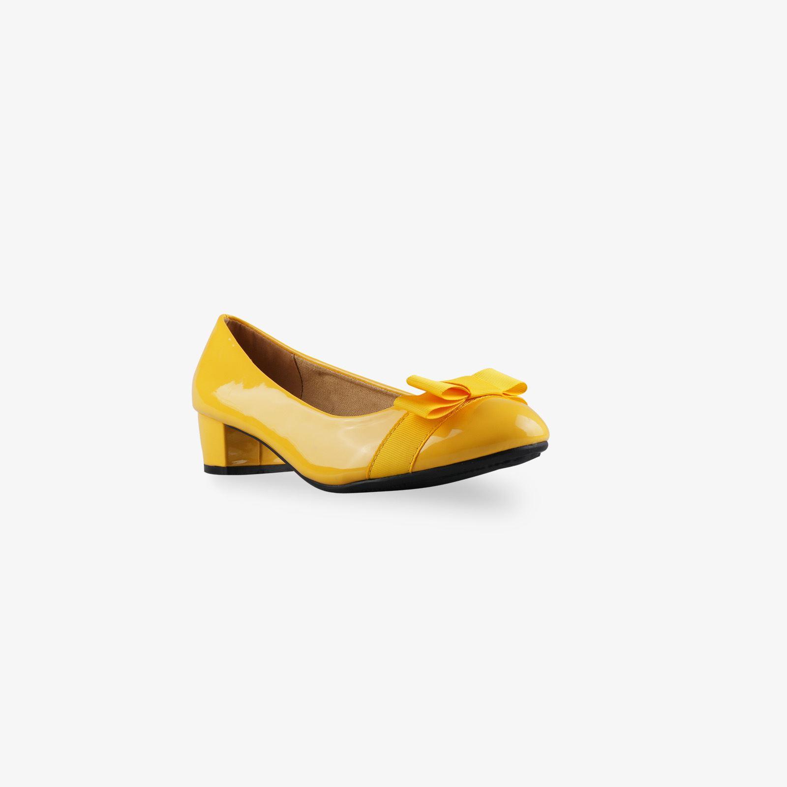 Damen-Elegante-Absatzschuhe-Hochlganz-Pumps-Blockabsatz-Ballerina-Schuhe-Chic Indexbild 8
