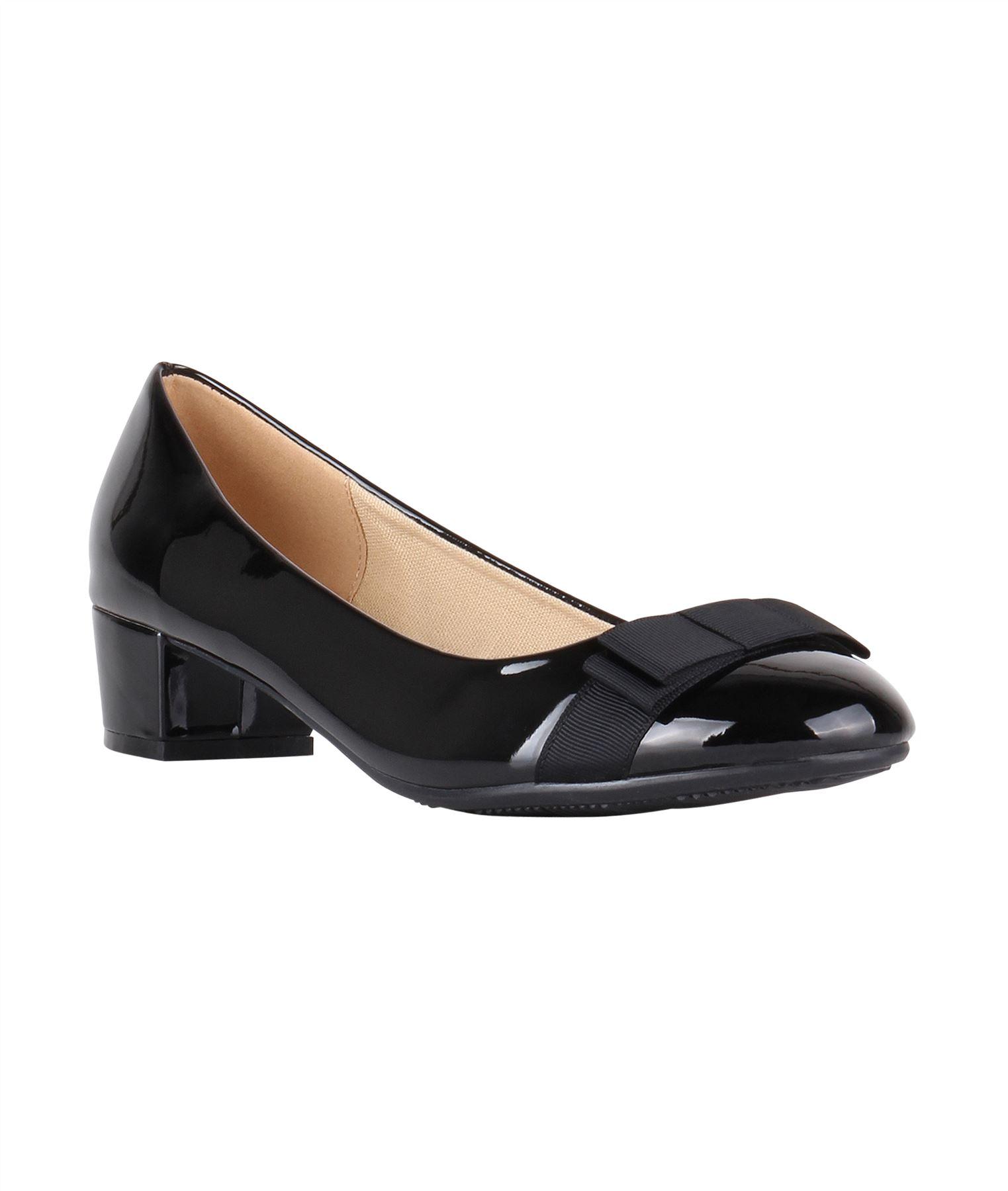 Damen-Elegante-Absatzschuhe-Hochlganz-Pumps-Blockabsatz-Ballerina-Schuhe-Chic Indexbild 23