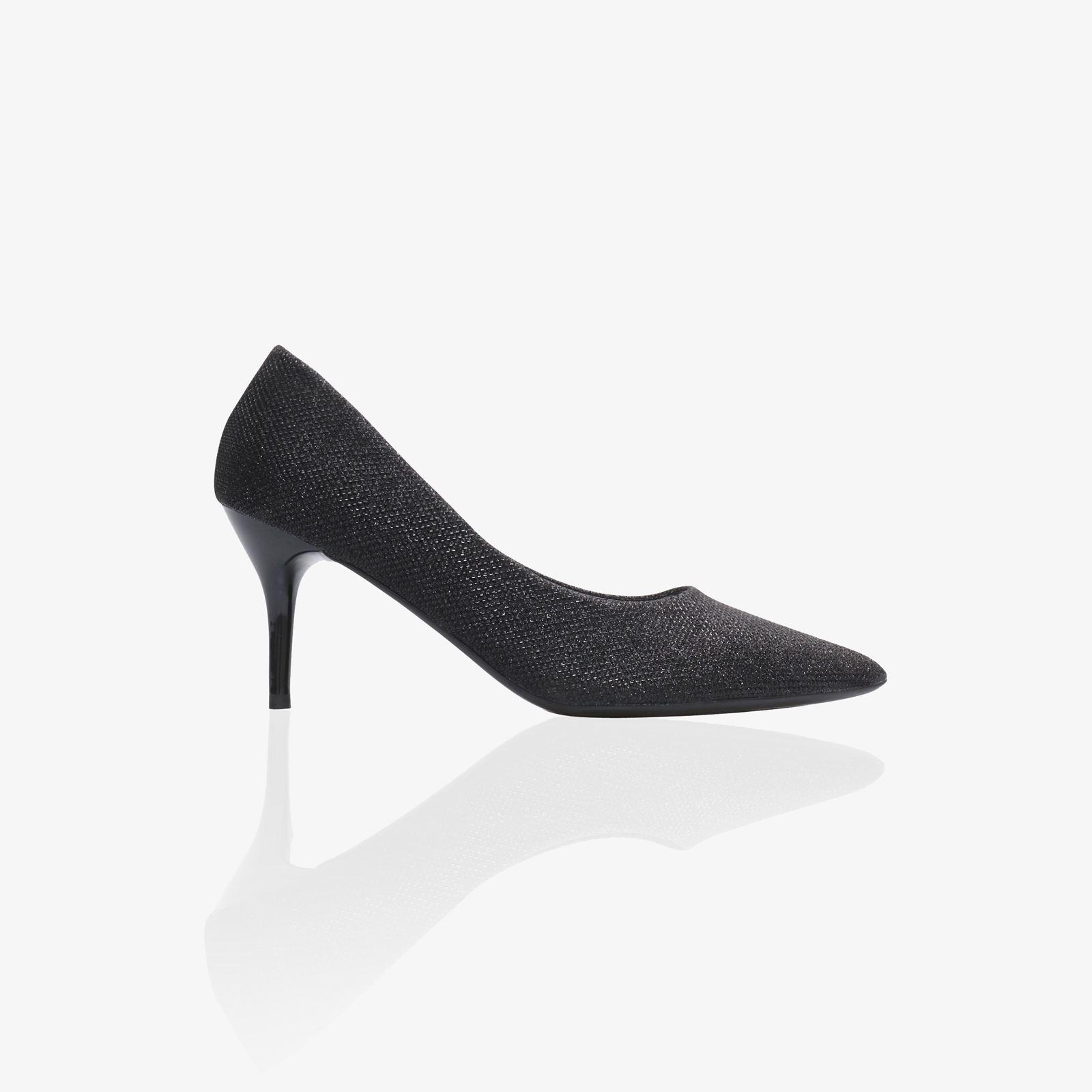 027ec282a4f Women Glitter Pointed Kitten Heels Ladies Low Mid Heel Court Shoes ...
