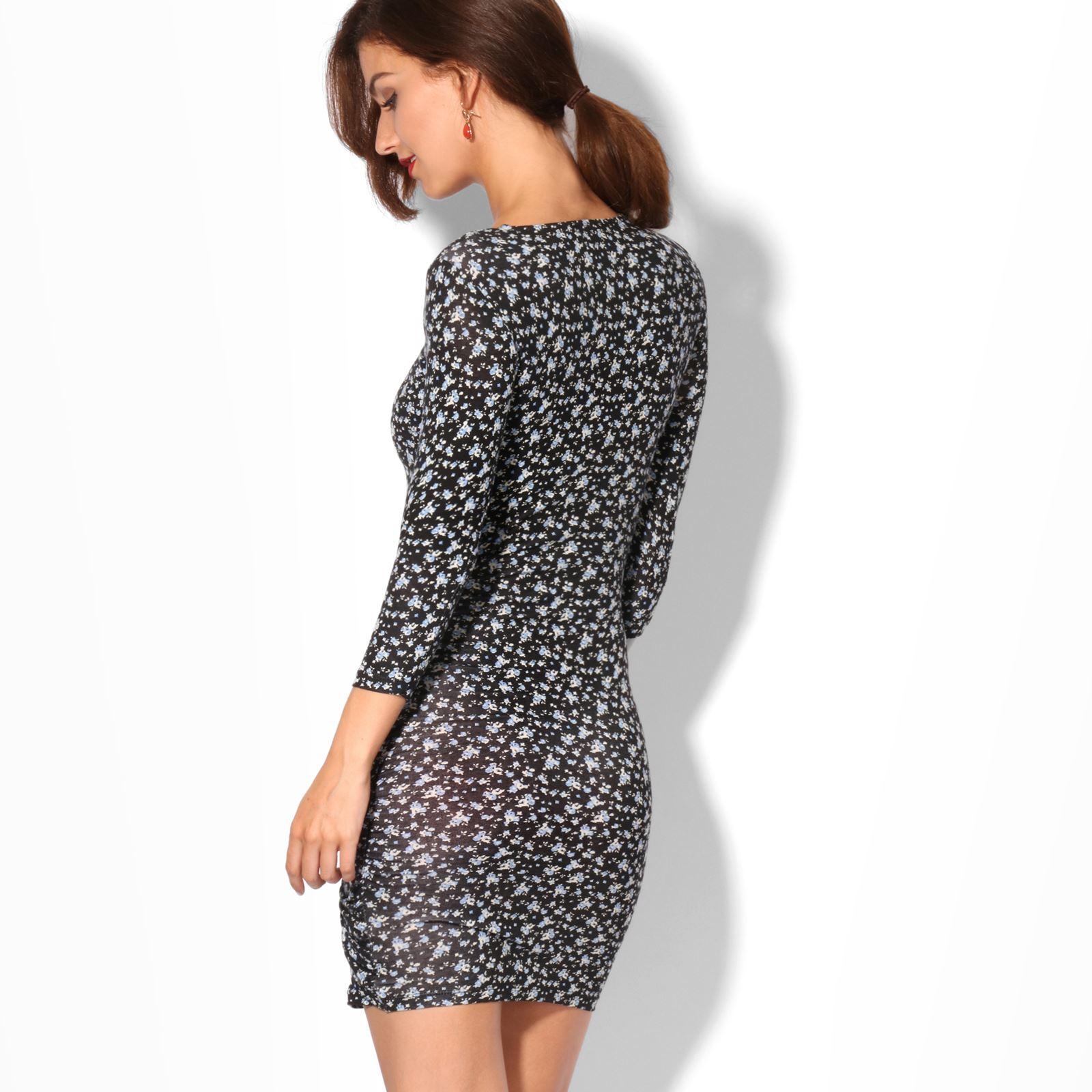 KRISP-Women-2-in-1-Boho-Gypsy-Tunic-Dress-Top-Tee-Jersey-Pleated-A-Line-Necklace thumbnail 4