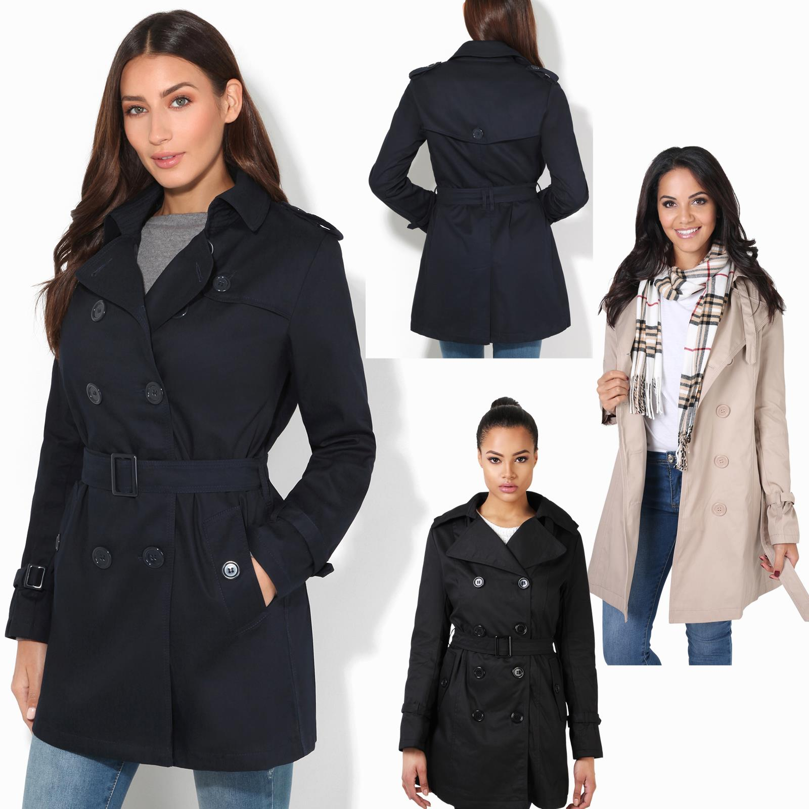 Winter Mantel Zu 36 Kurzmantel 46 Details Damen Trenchcoat Größen Jacke Klassischer Große W29YEDHI