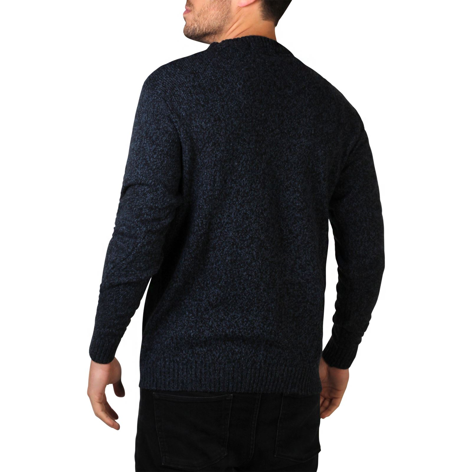 Mens-Soft-Knitted-Round-Crew-Neck-Warm-Jumper-Sweater-Grandad-Pullover-Top thumbnail 9