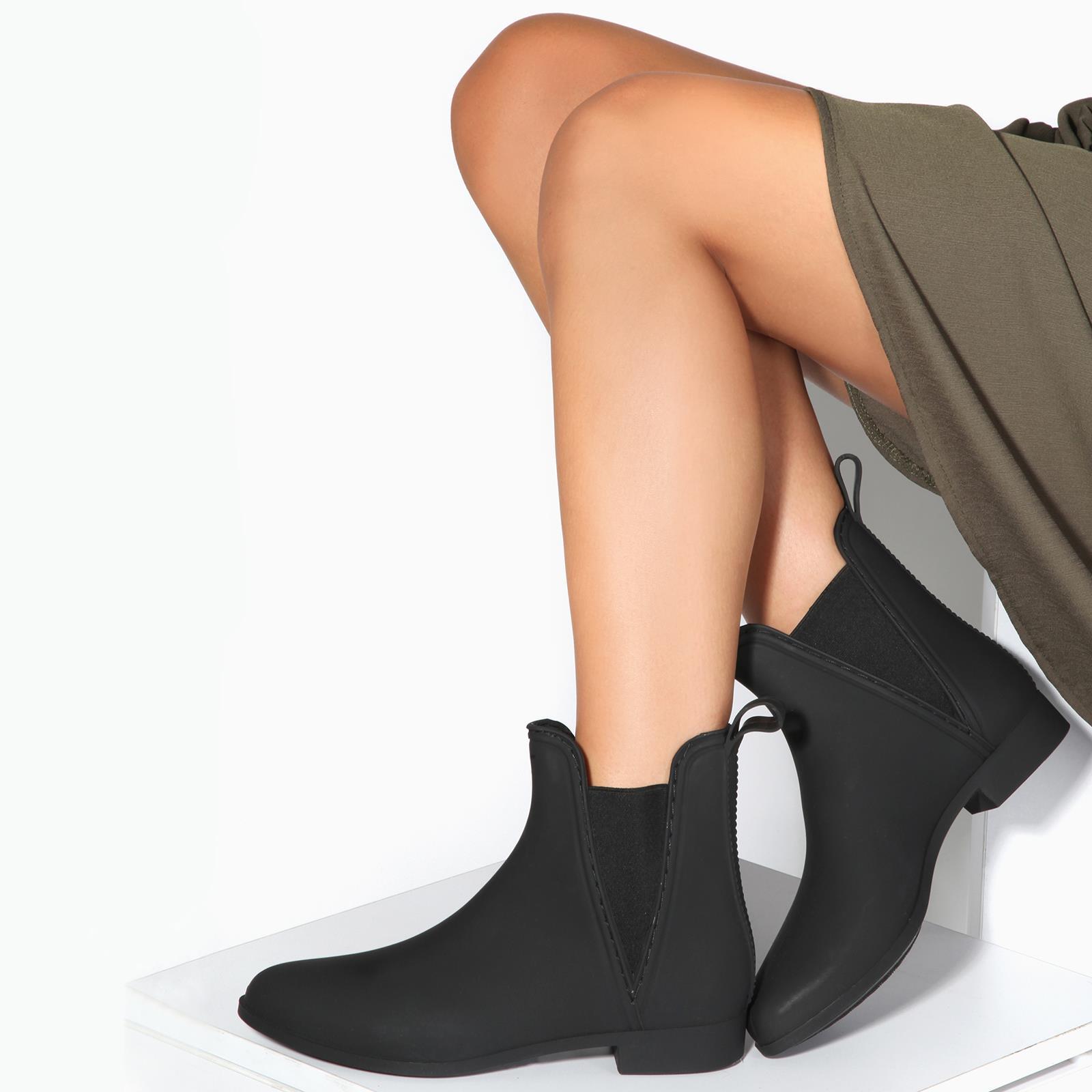 Botas-Agua-Mujer-Barata-Original-Botines-Moda-Comodas-Calzado-Elastico-Juveniles miniatura 32