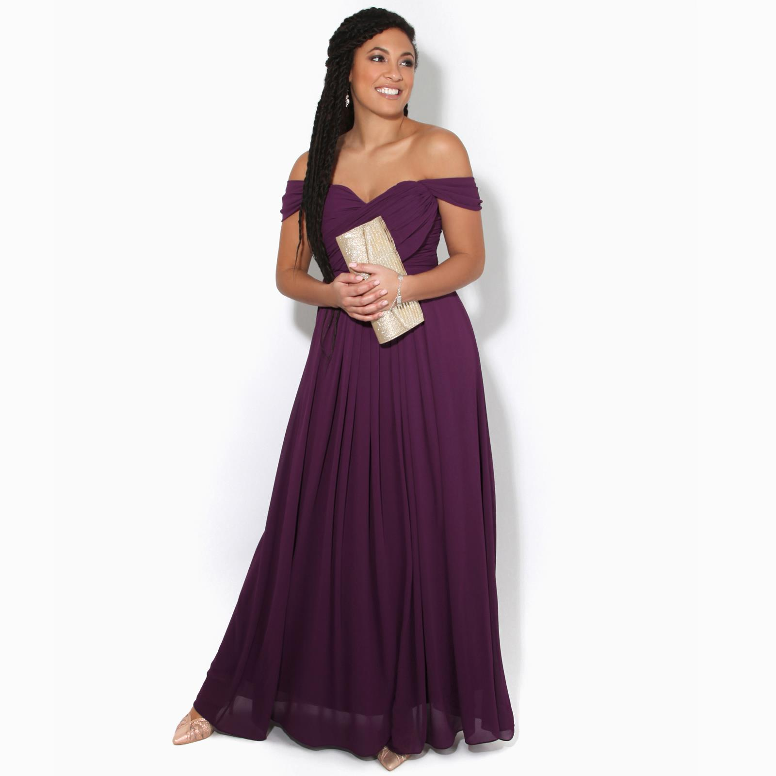 Womens-Formal-Evening-Wedding-Maxi-Prom-Dress-Long-On-Off-Shoulder-Ball-Gown thumbnail 10