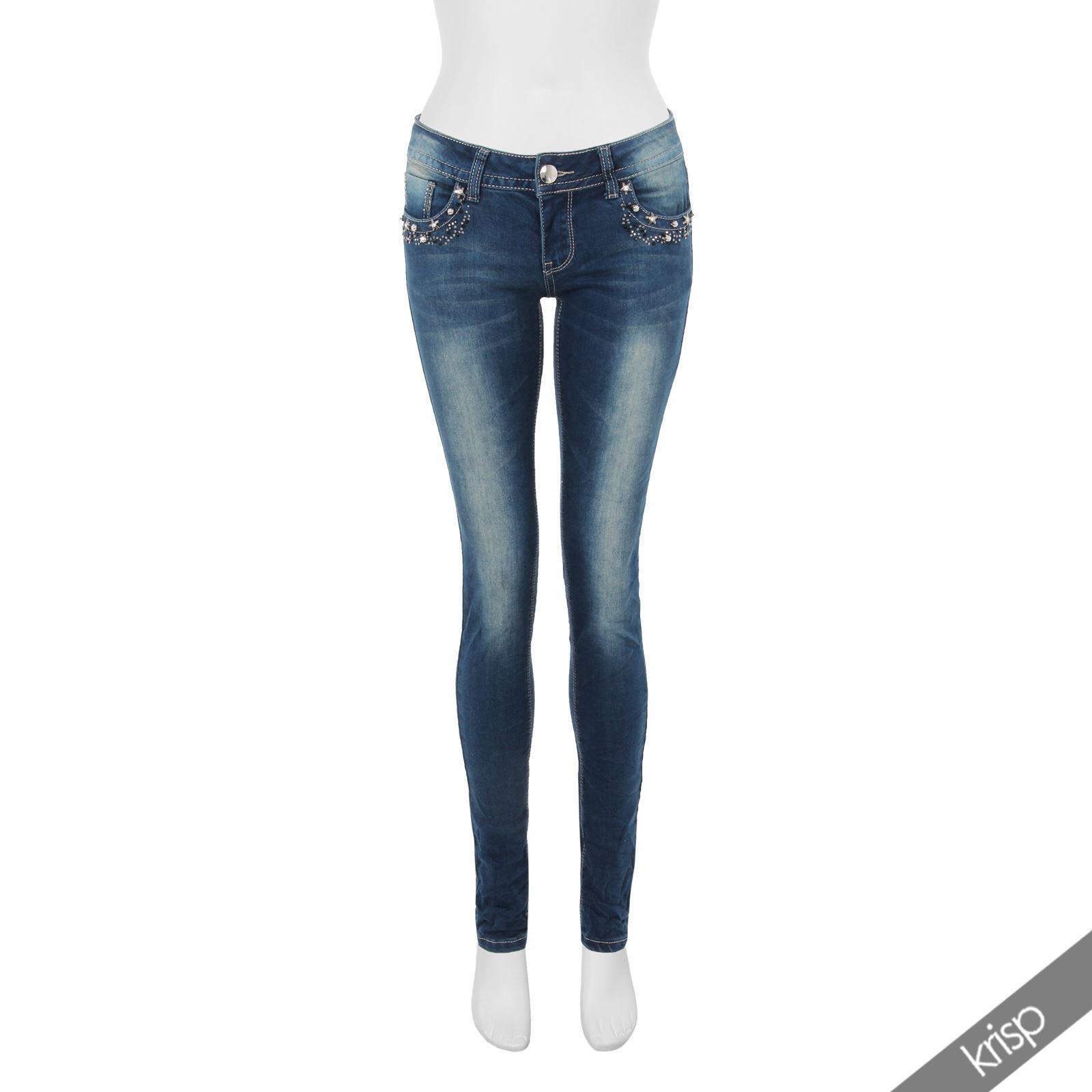 SALE Damen Jeans Hosen Slim Fit Skinny Stretch AUSVERKAUF ...