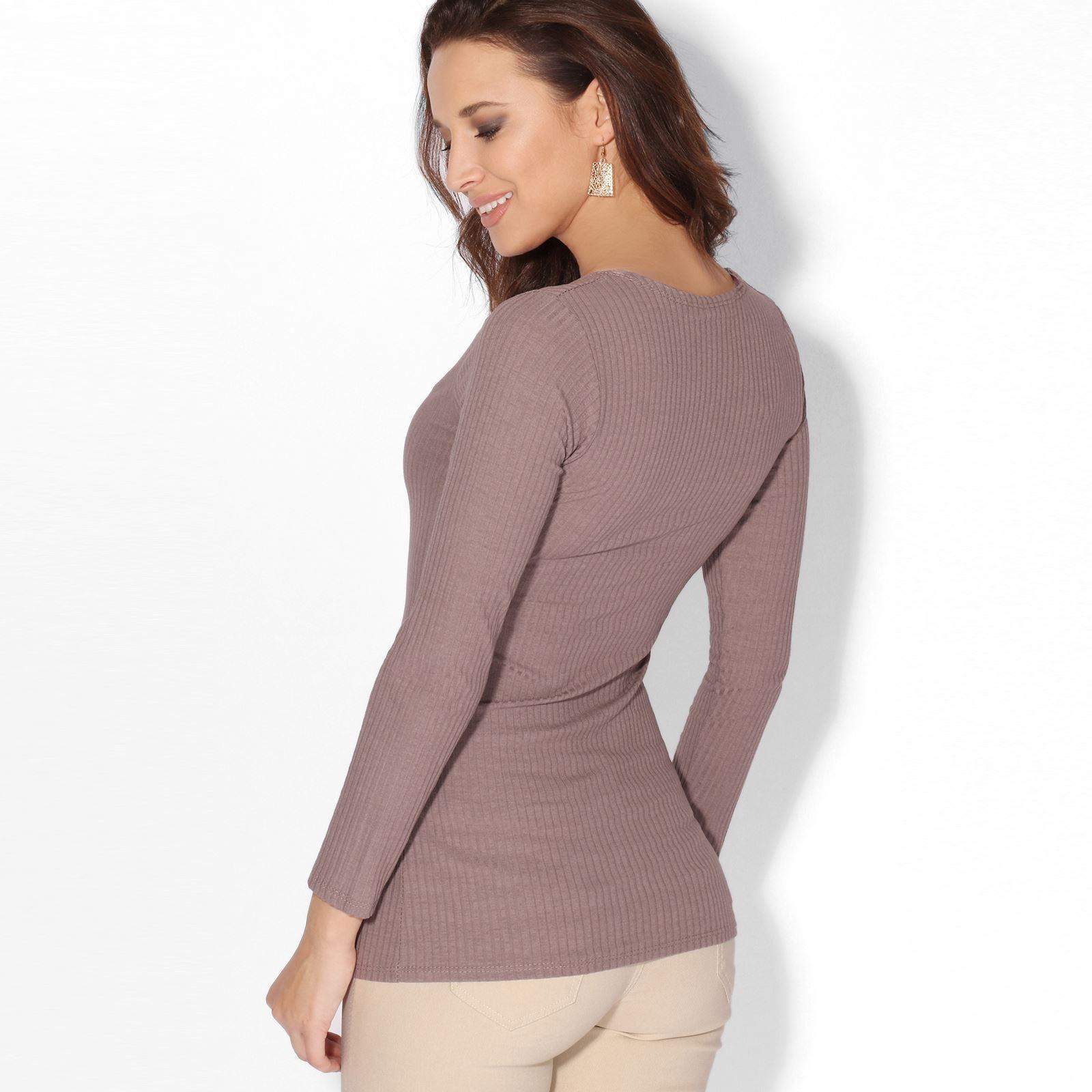 Rebeca-Mujer-Corta-Botones-Basica-Acanalada-Barata-Oferta-Casual-Ligera-Fina miniatura 20