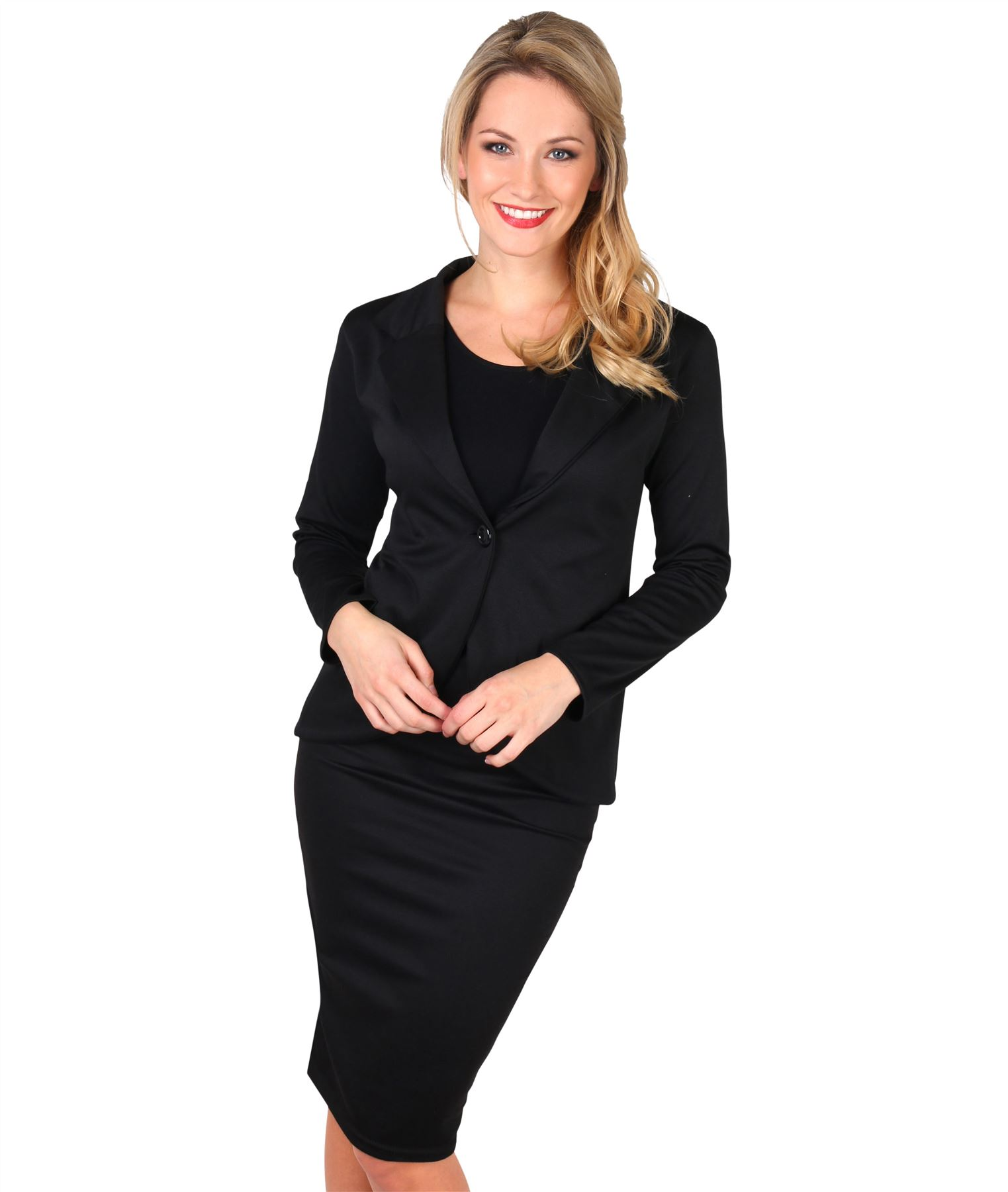 Womens-Ladies-Pencil-Skirt-Midi-Knee-Long-High-Waist-Work-Office-Business-Smart thumbnail 3