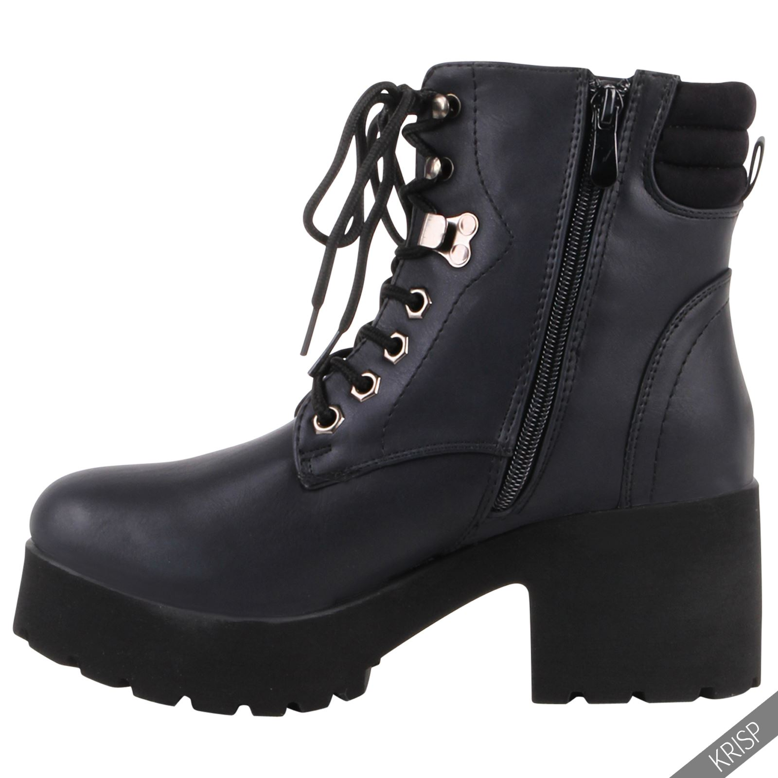 womens fashion classic worker ankle boots flat heel