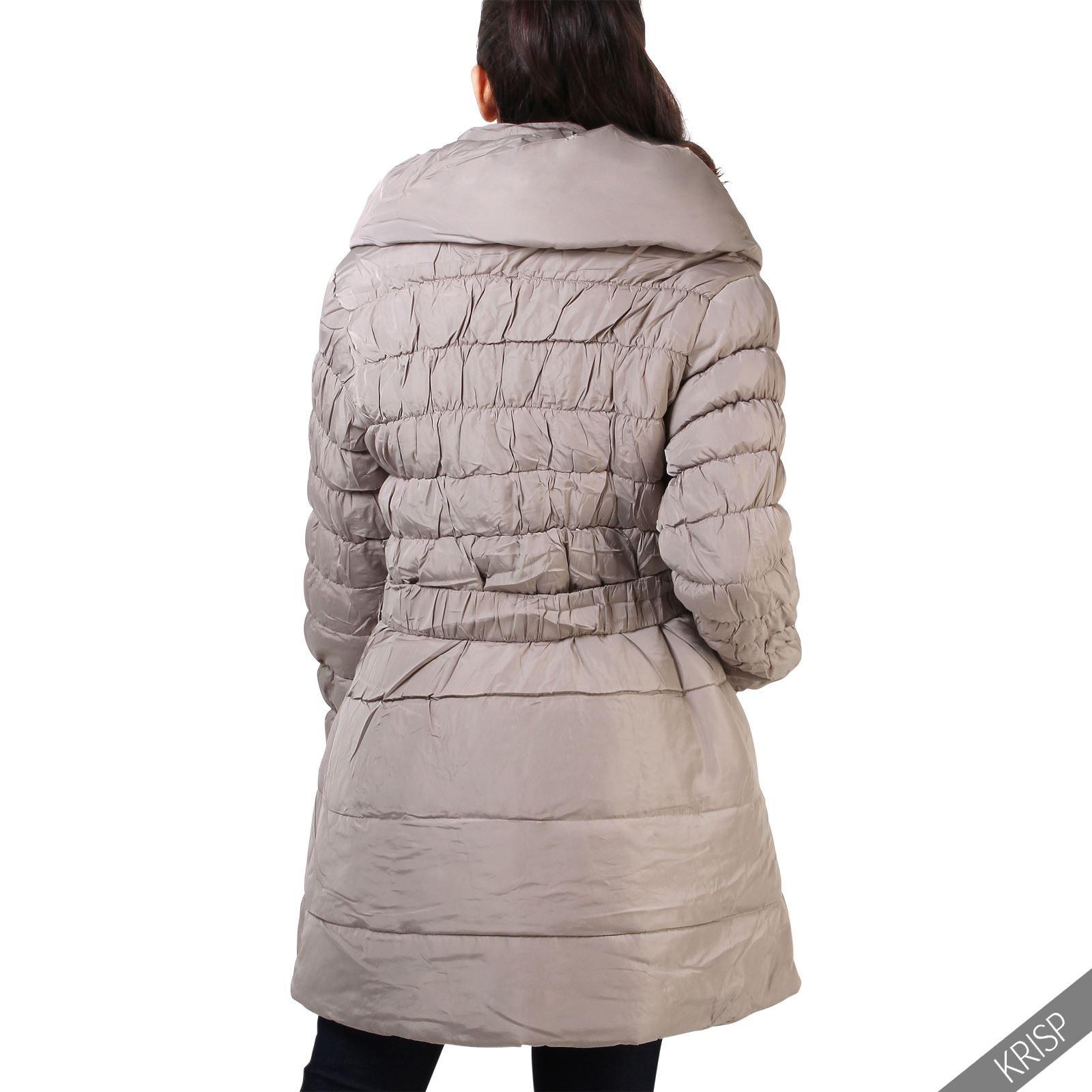damen warme gesteppte winterjacke parka jacke xxl bergr en plus size mantel ebay. Black Bedroom Furniture Sets. Home Design Ideas