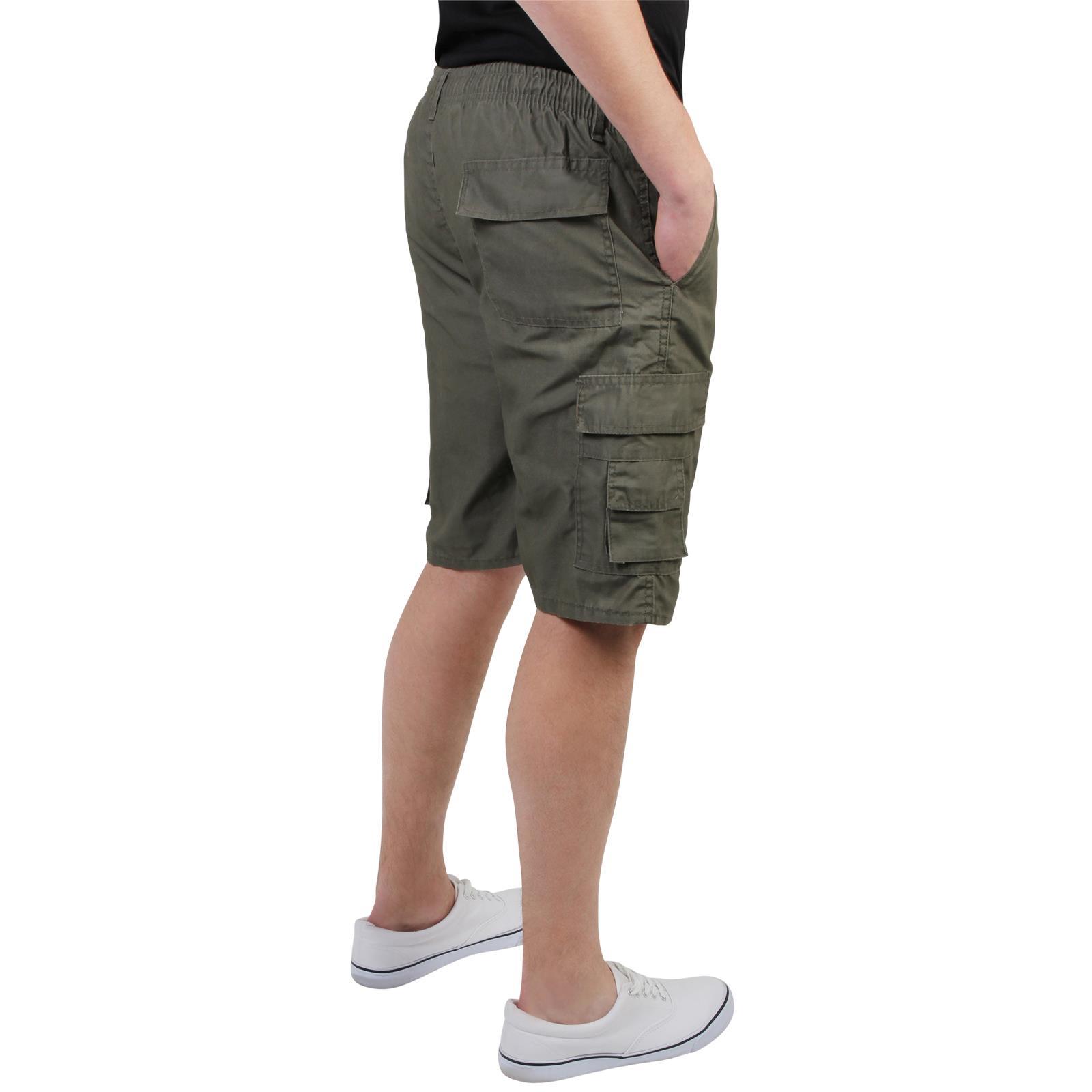 Mens-Cotton-Cargo-Shorts-Plain-Basic-Casual-Work-Chinos-Combat-Pants-Regular thumbnail 6
