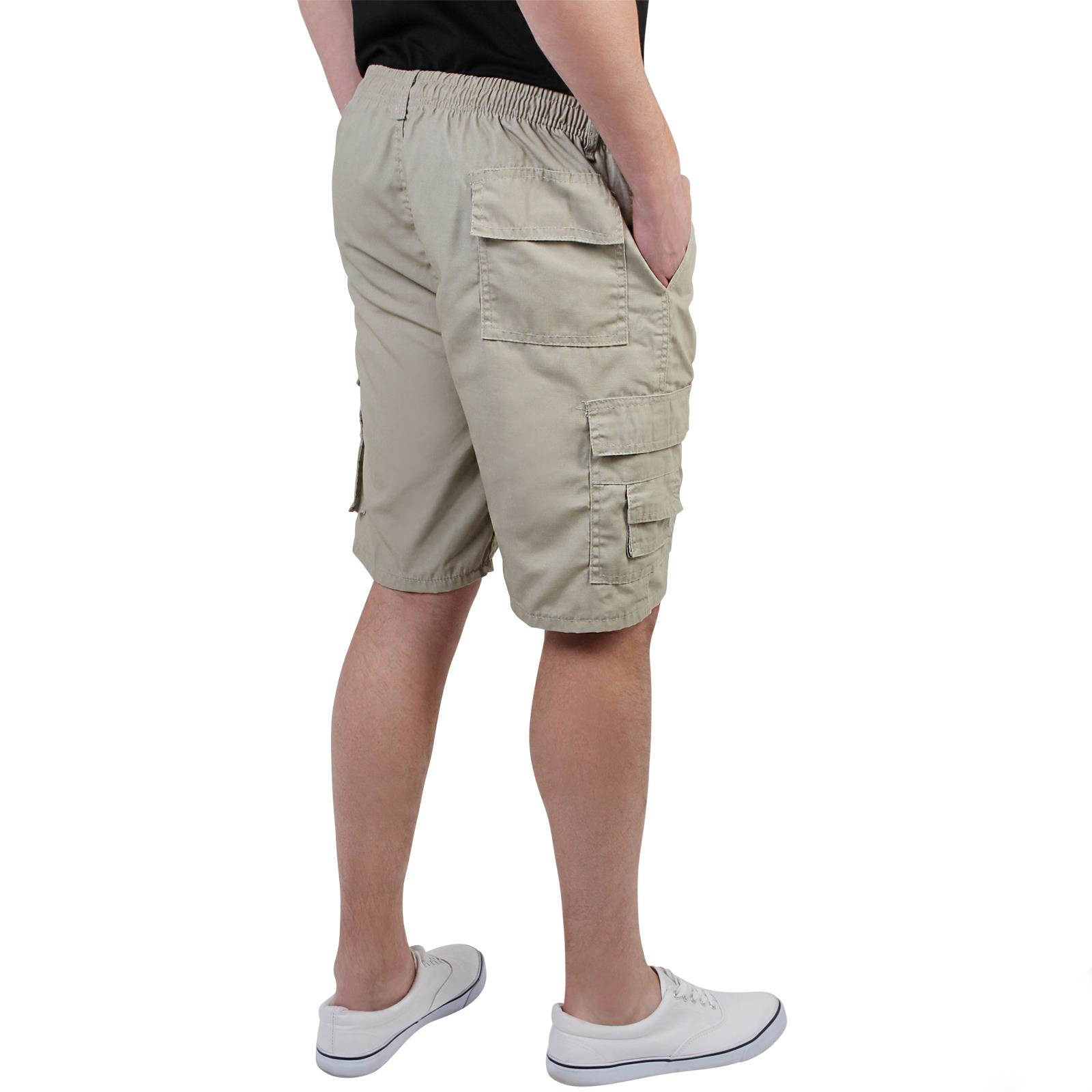 Mens-Cotton-Cargo-Shorts-Plain-Basic-Casual-Work-Chinos-Combat-Pants-Regular thumbnail 24