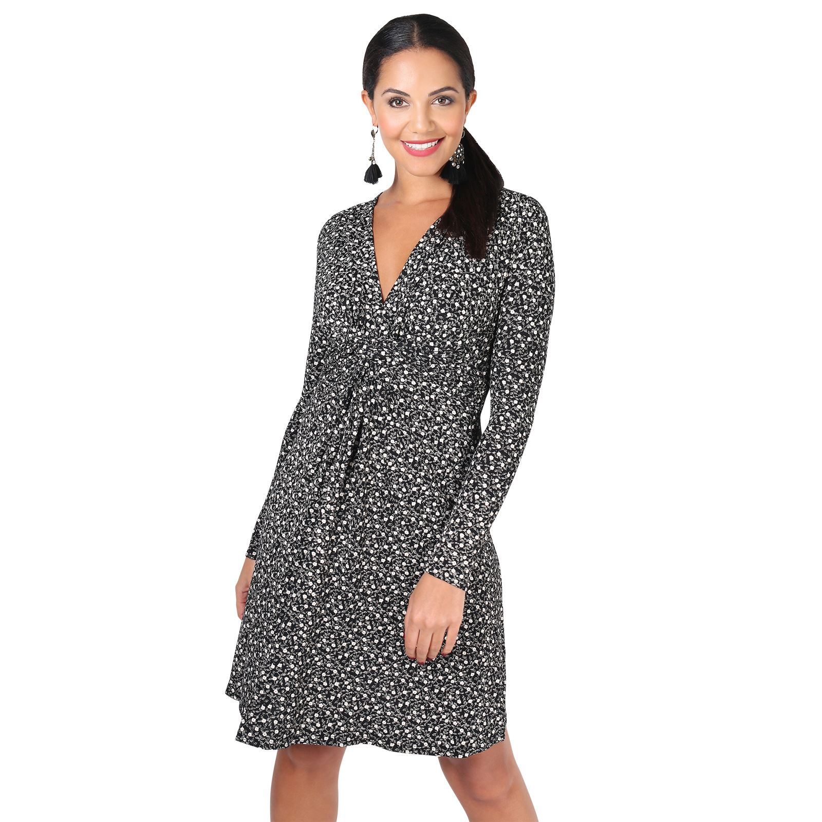 Ruched-Drape-Stretch-Front-Twist-Knot-Shift-Mini-Dress-Tie-Belted-Party-Work