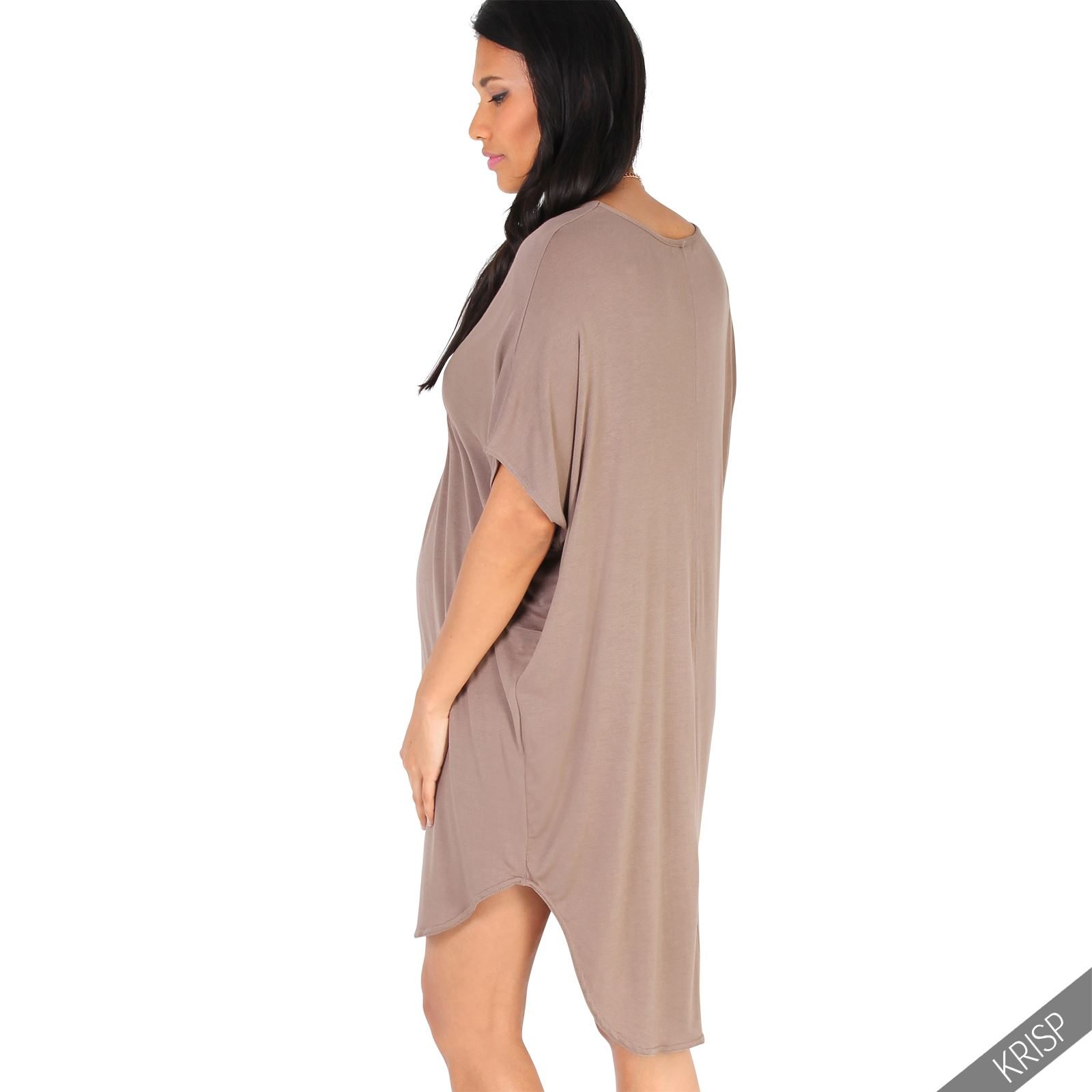 Maternity-Dress-Empire-Line-Top-Long-Loose-T-Shirt-Batwing-Tunic-Pregnancy-Plus thumbnail 9