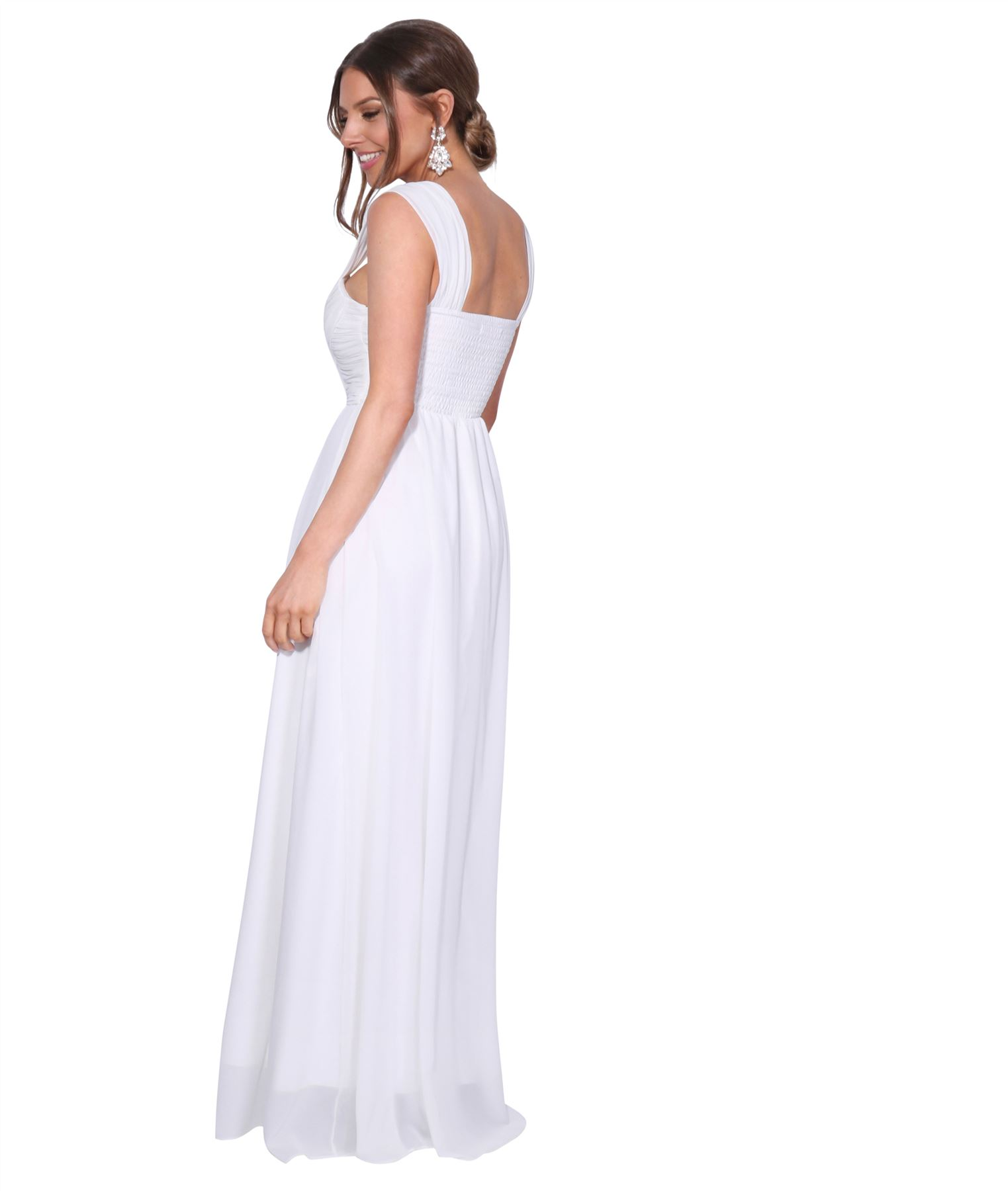 Womens-Formal-Evening-Wedding-Maxi-Prom-Dress-Long-On-Off-Shoulder-Ball-Gown thumbnail 63