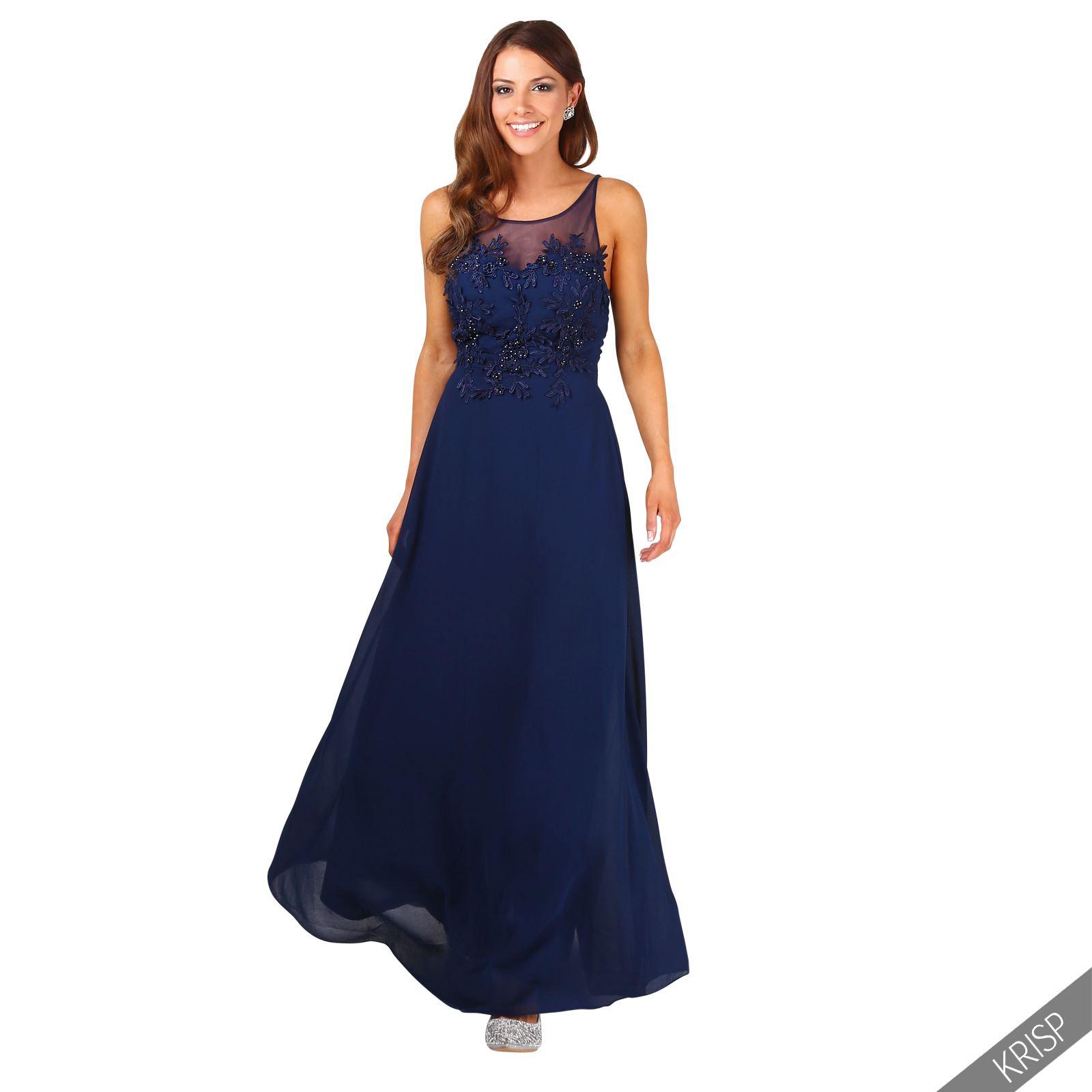 Vestido fiesta azul noche