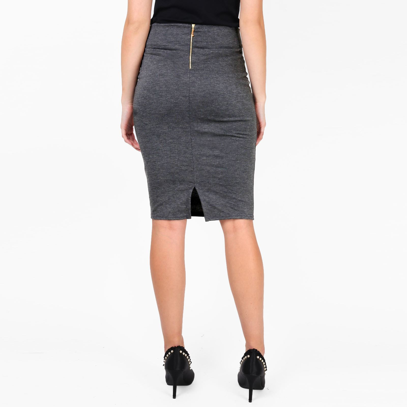 Womens-Ladies-Pencil-Midi-Skirt-Stretch-Fitted-Belt-Bodycon-Office-Work-8-20 thumbnail 7