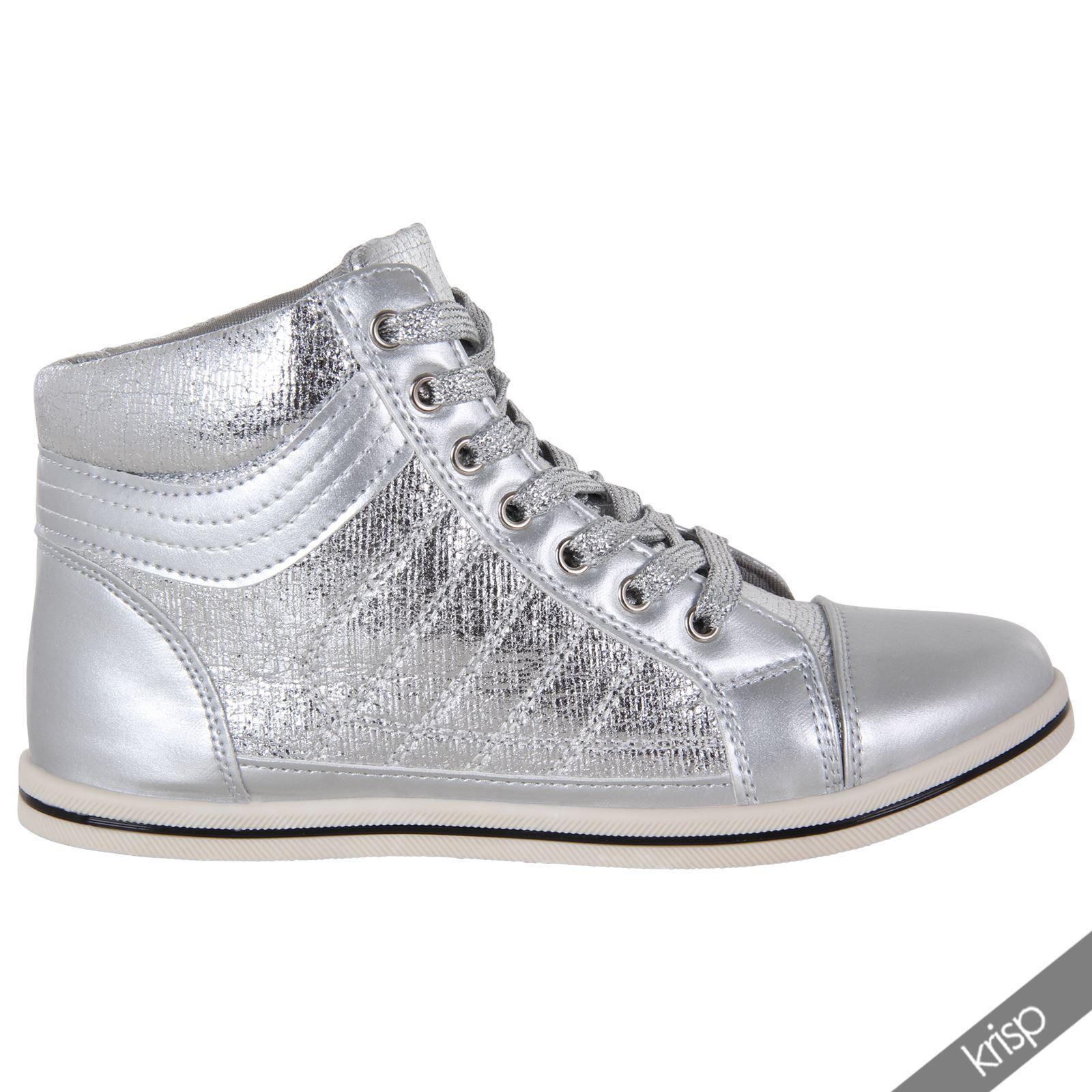 TOP Freizeitschuhe Damenschuhe Sneaker Sportschuhe 5996 Schwarz Silber 38