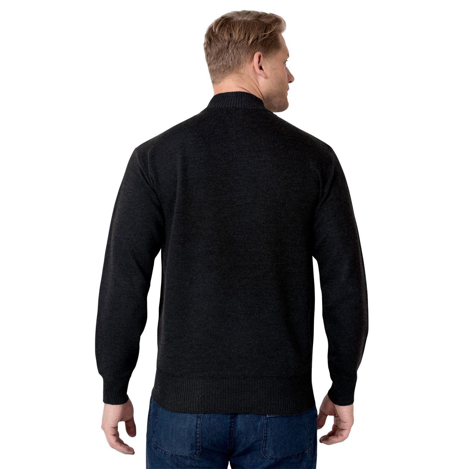 Men Half Zip Funnel Neck Plain Wool Knit Long Sleeve Jumper Sweater Pullover Top
