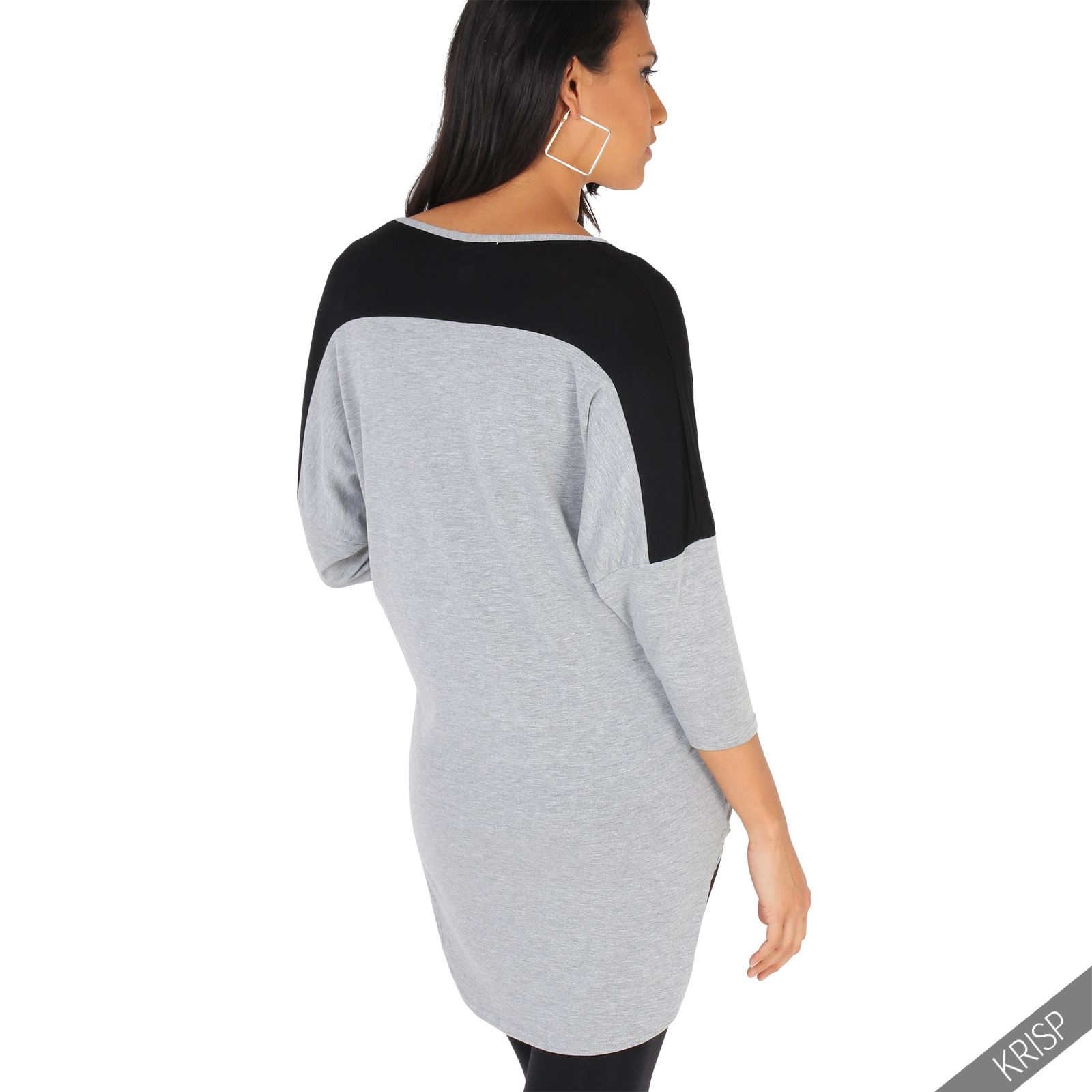 Maternity-Batwing-Baggy-Loose-T-Shirt-Tunic-Top-3-4-Sleeve-Dip-Hem-Long-Casual thumbnail 7