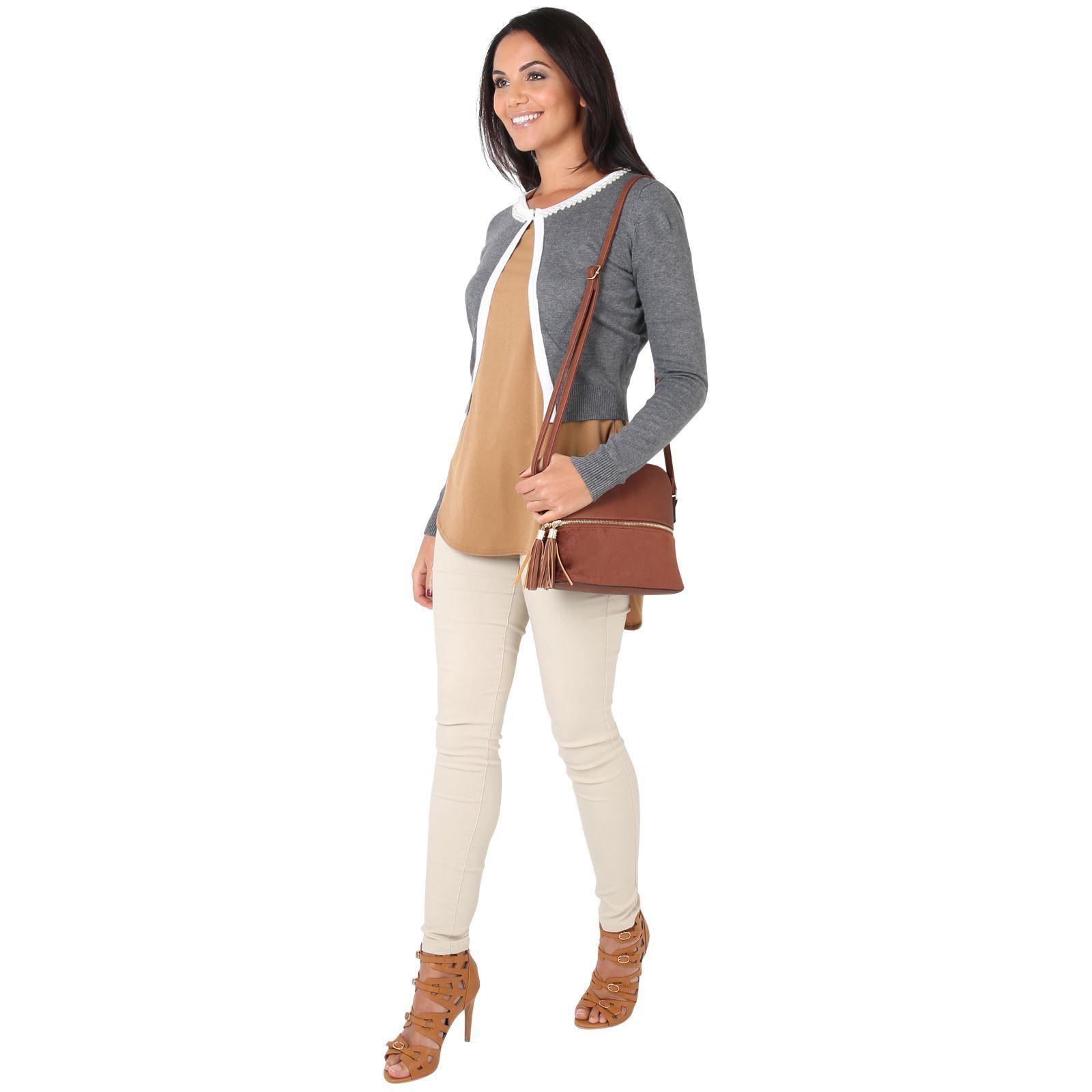 Womens-Ladies-Bolero-Shrug-Silky-Soft-Cardigan-Long-Sleeve-Knit-Short-Top-Work thumbnail 11