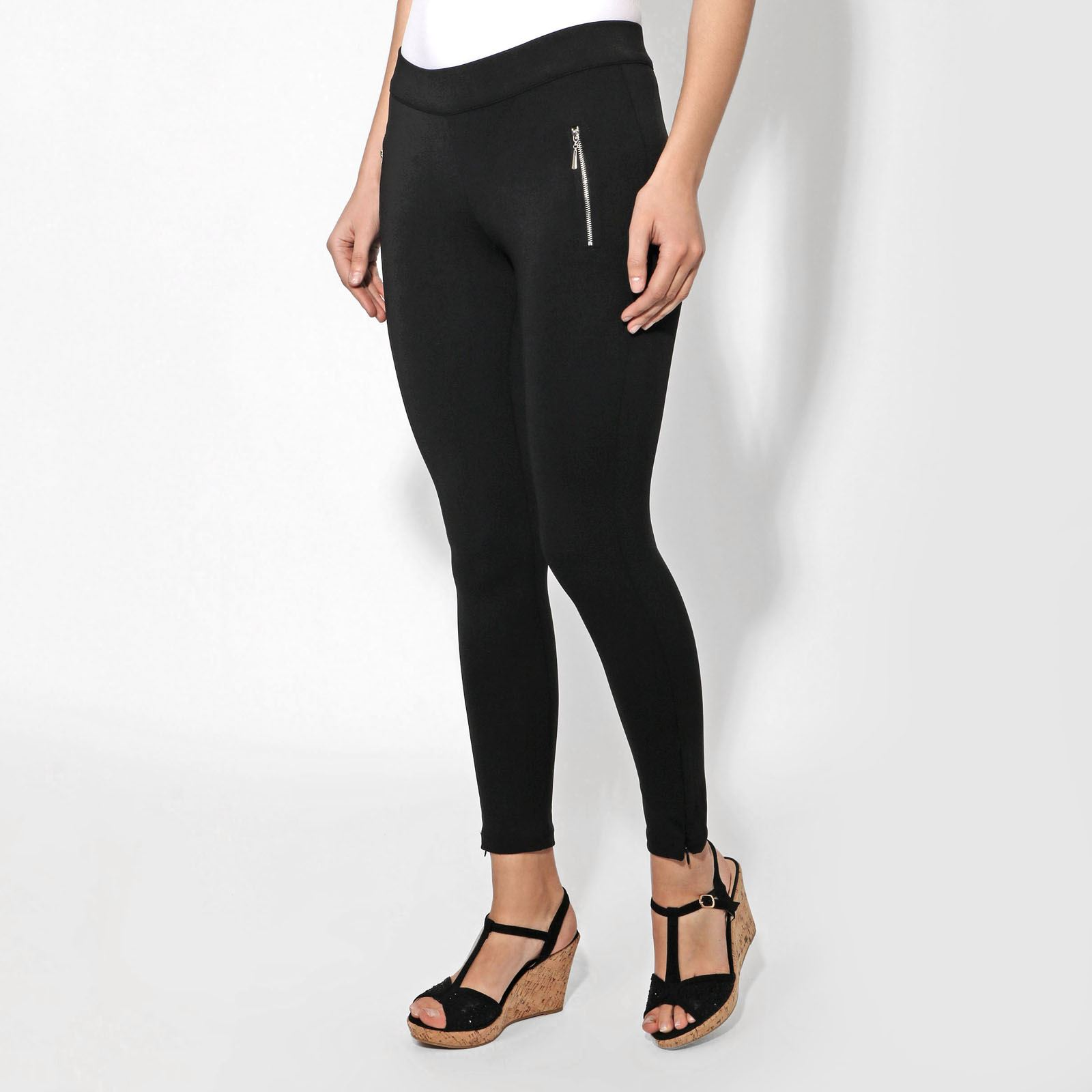 88845a448f581 Women Ankle Zip Black Jeggings Ladies Stretch Trousers Leggings Pull On  Pants