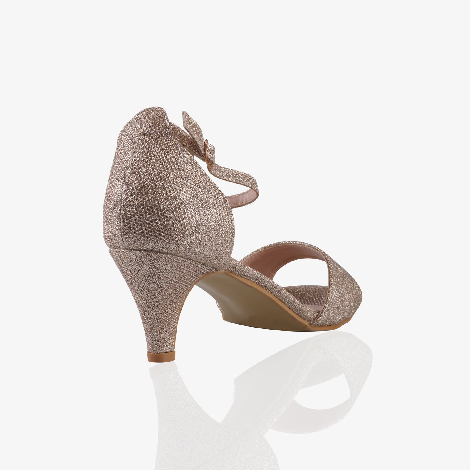 Women-Ladies-Low-Kitten-Heel-Court-Shoes-Open-Toe-Glitter-Sandals-Party-Bridal thumbnail 4