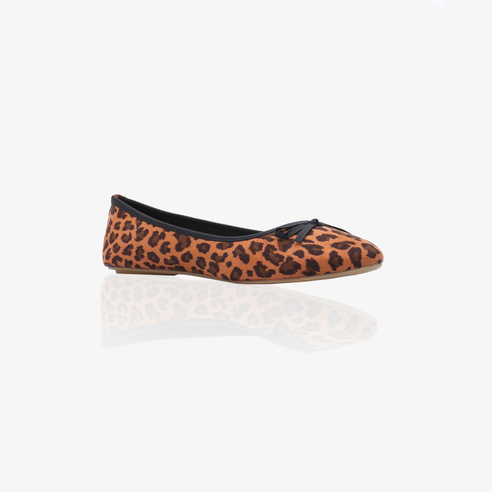 Women-Leopard-Plain-Basic-Ballet-Flats-Ballerina-Pumps-School-Shoes-Work-Office