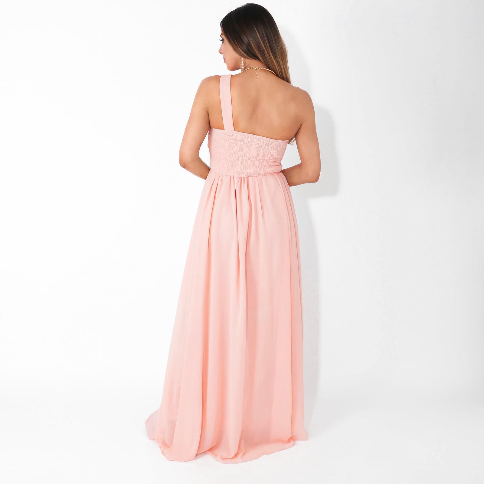 Womens-Wedding-Bridesmaid-Prom-Dress-Formal-One-Off-Shoulder-Long-Evening-8-18 thumbnail 50