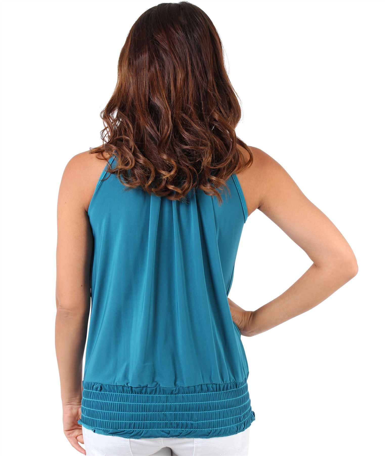 Womens-Ladies-Sleeveless-Blouse-Halter-Neck-Vest-Top-Party-T-Shirt-Plus-Size thumbnail 22