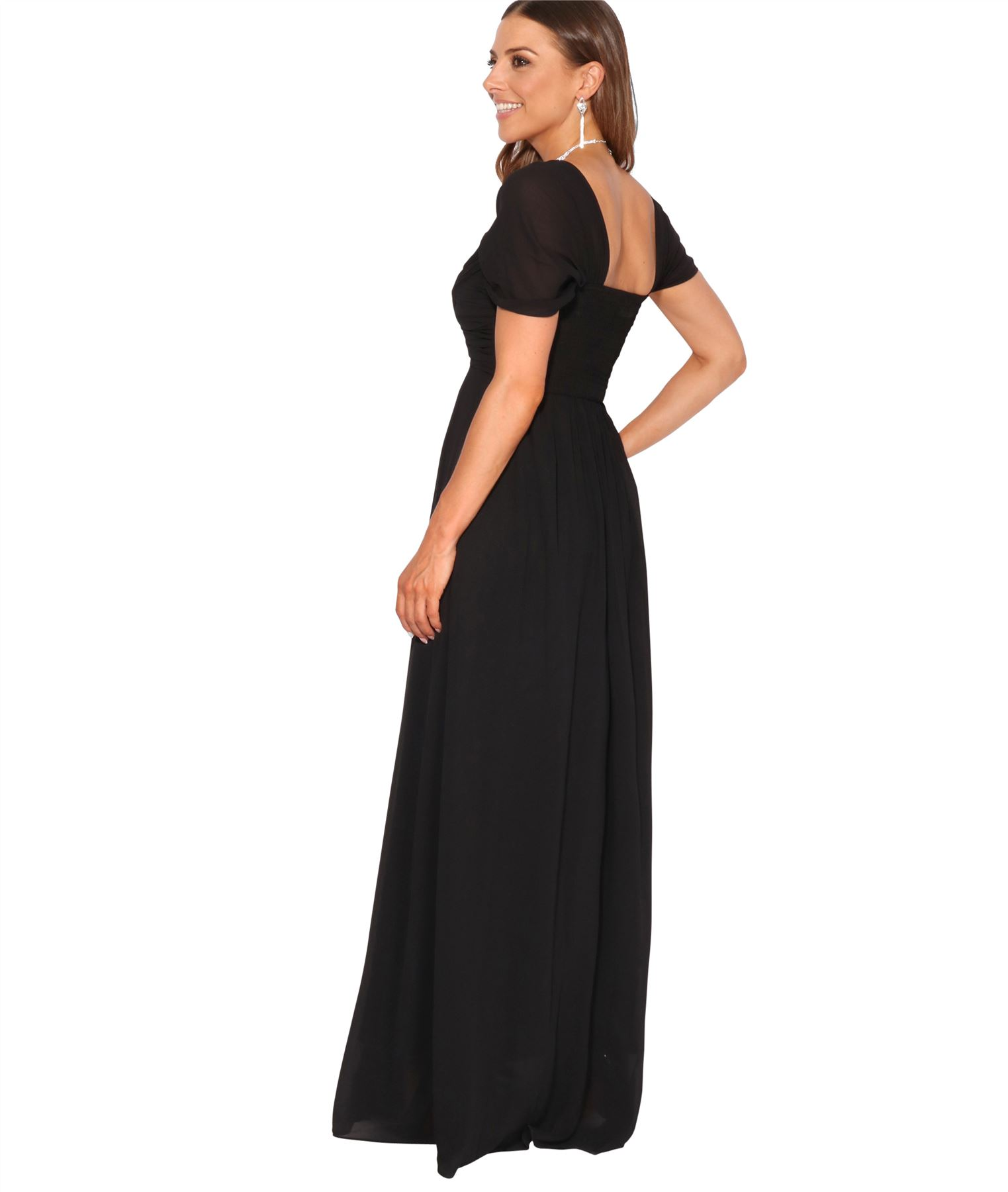 Womens-Formal-Evening-Wedding-Maxi-Prom-Dress-Long-On-Off-Shoulder-Ball-Gown thumbnail 14