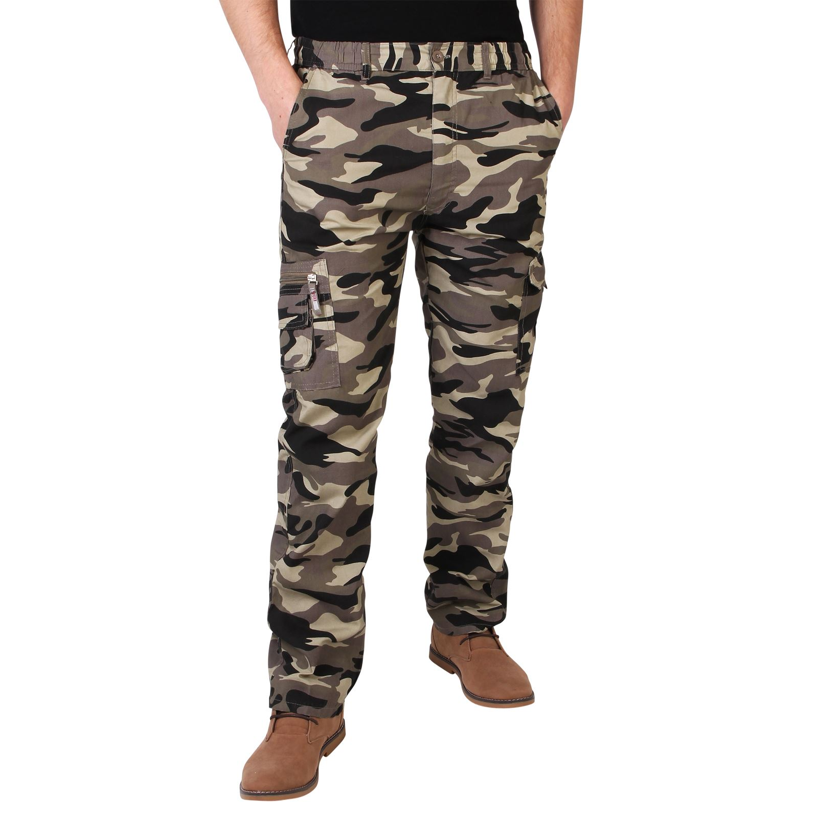 herren hose cargo combat camouflage tarnfarbe milit r arbeitshose freizeithose ebay. Black Bedroom Furniture Sets. Home Design Ideas