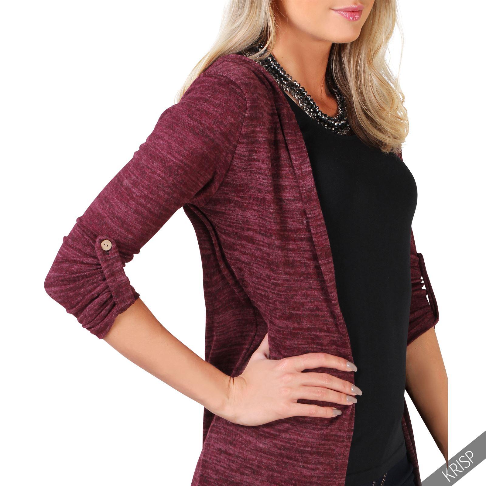 Femmes-Longue-Jacket-Veste-Sweat-Doux-Capuche-Cardigan-Gilet-Manteau-Hiver miniature 4