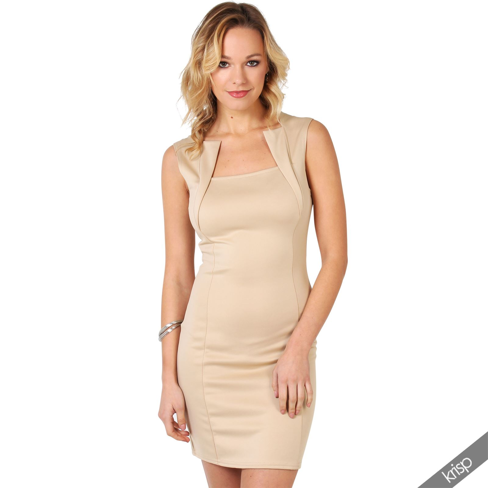 Ladies-Fashion-Bodycon-Dress-Sleeveless-Backless-Party-Fitted-Cocktail-Pencil thumbnail 25