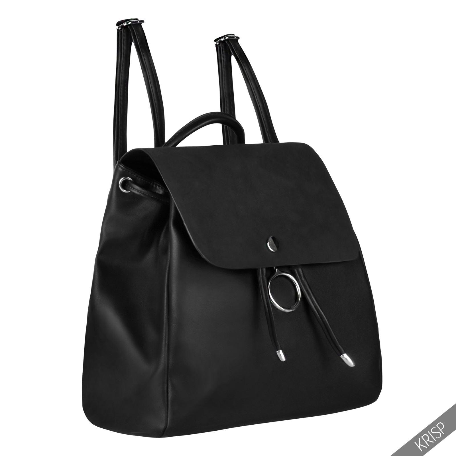 Krisp mochila negra bolso vestir elegante joven juvenil for Bolsos para oficina